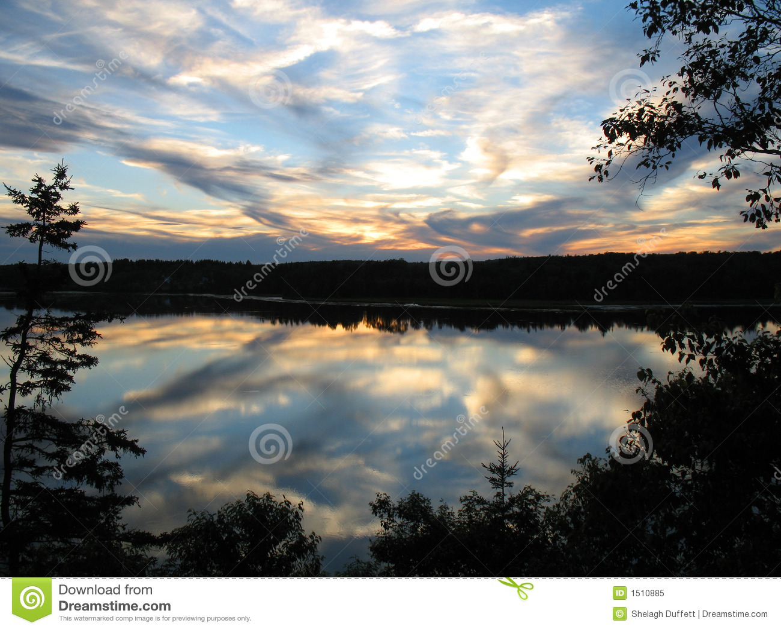 nova scotia sunset royalty free stock photo