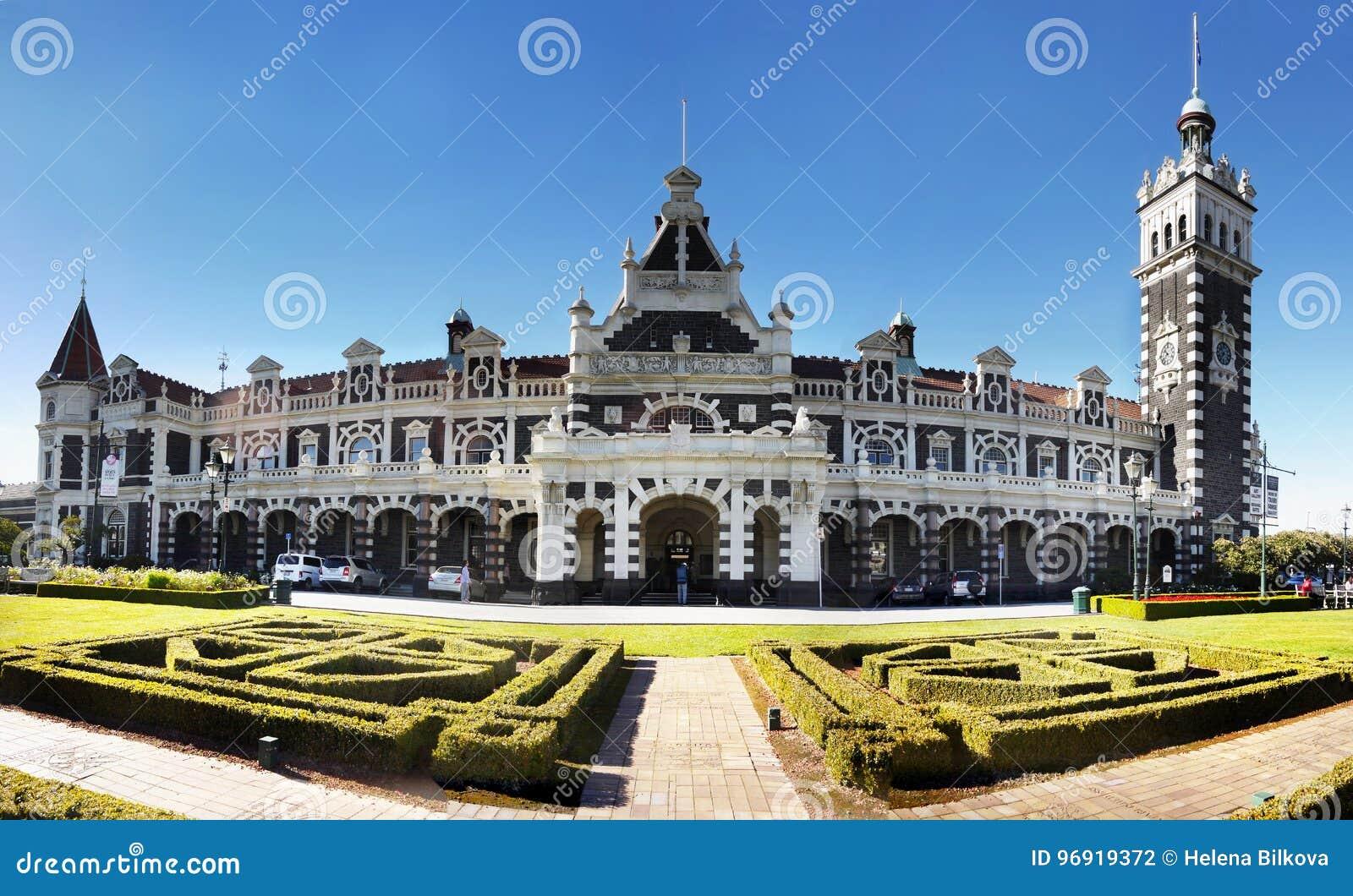 Nova Zelândia, Dunedin, estação de trem histórica