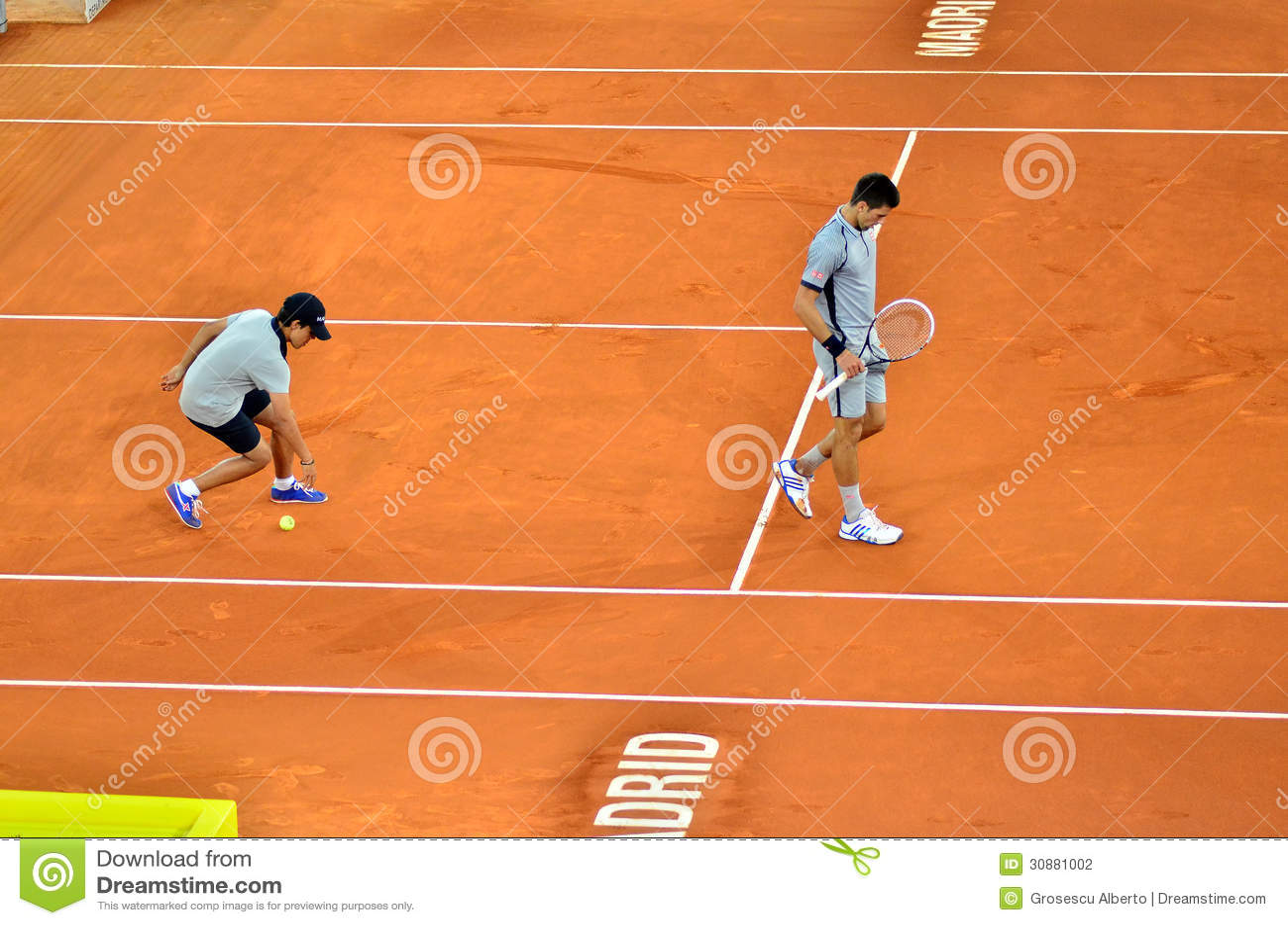 Novak Djokovic przy ATP Mutua Otwarty Madryt