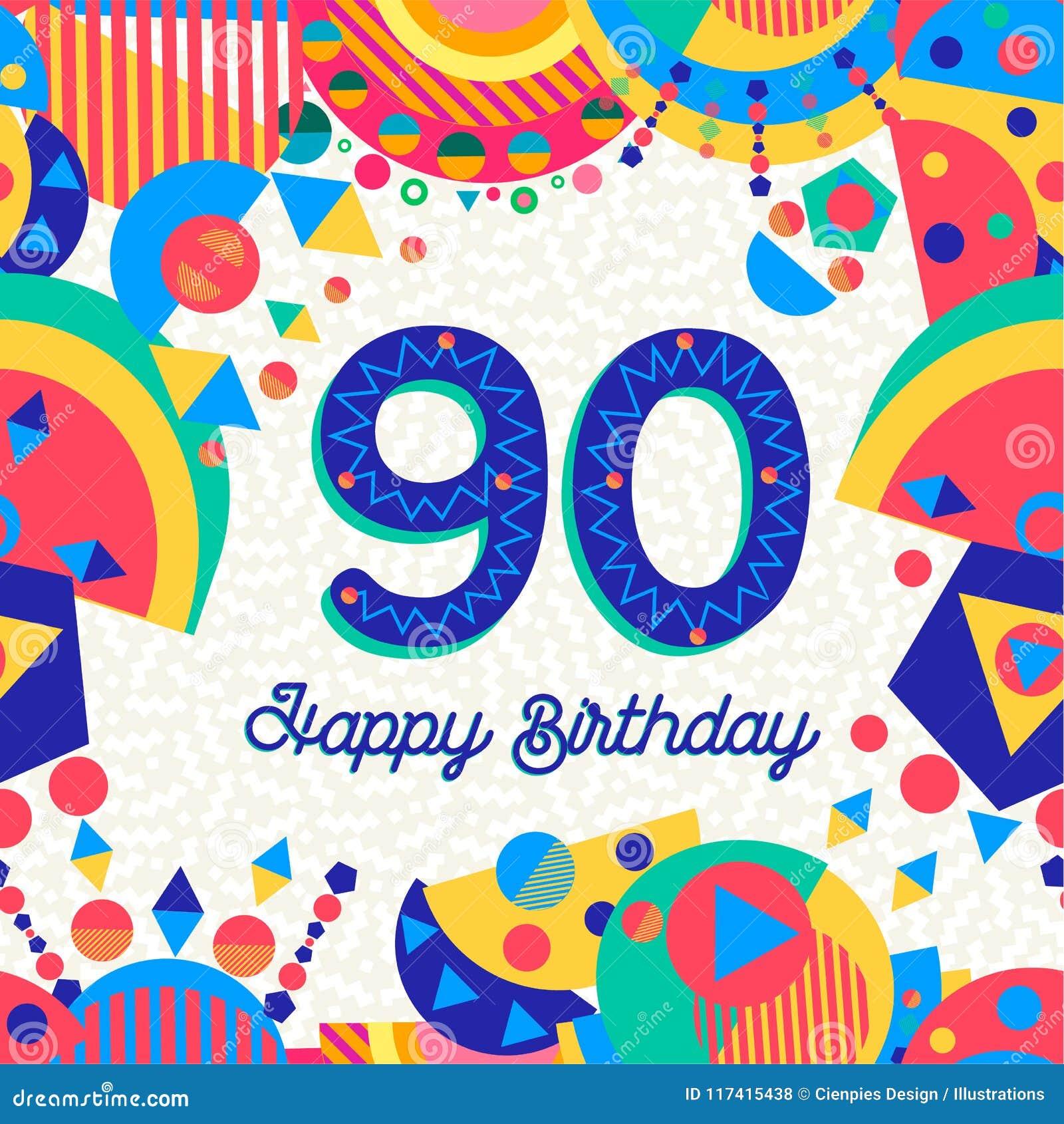 Auguri Di Buon Compleanno 90 Anni.90 Novanta Cartoline D Auguri Della Festa Di Compleanno Di