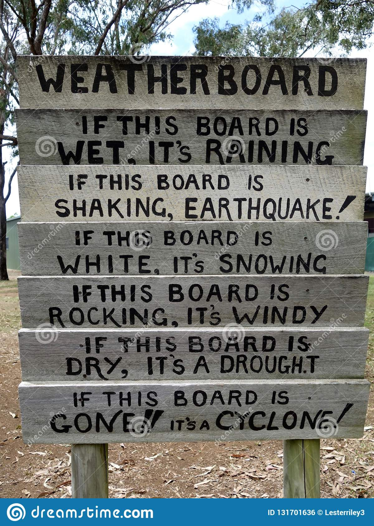 A novelty weather reporting station