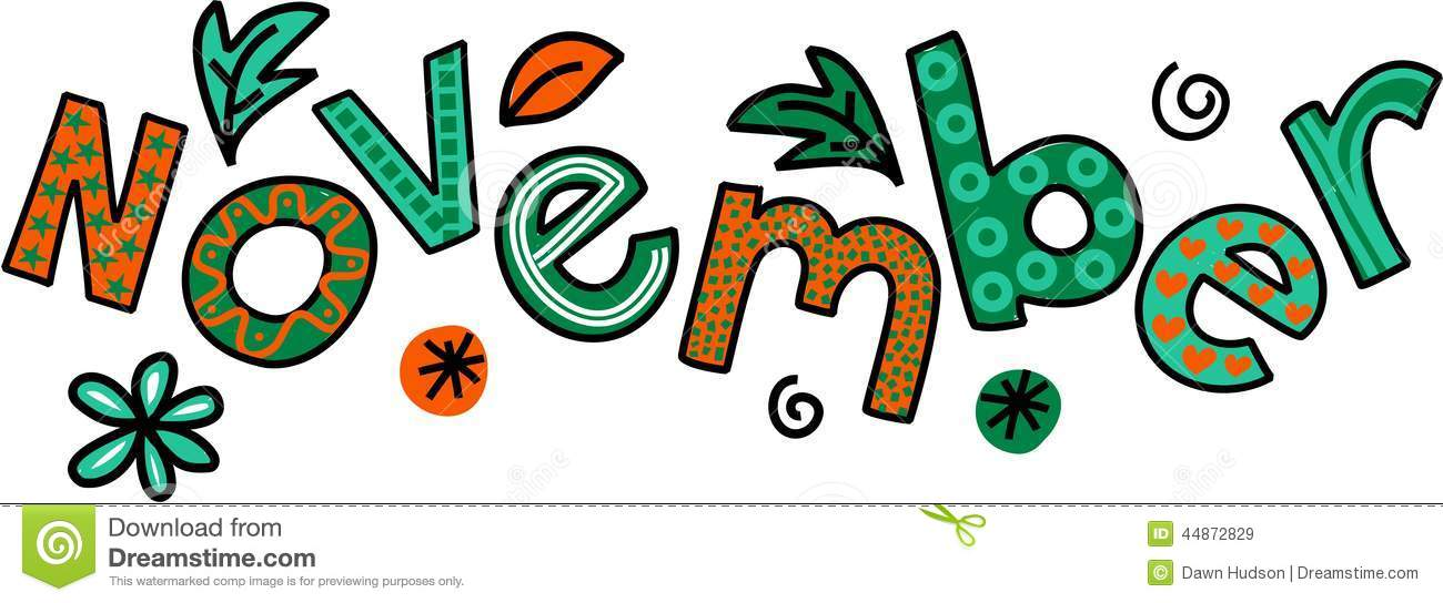 November Clip Art stock illustration. Illustration of ...