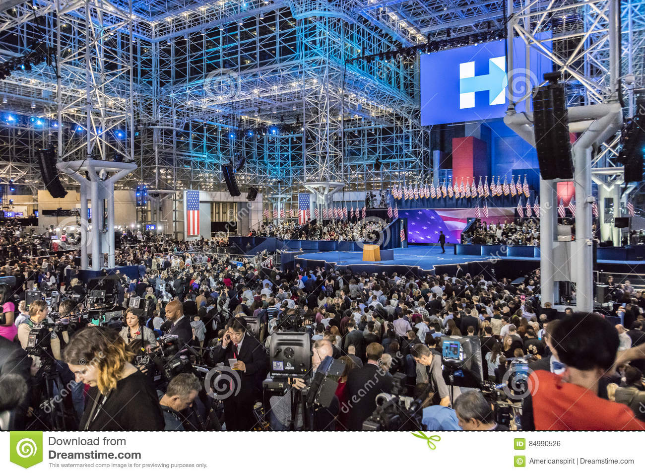 NOVEMBER 8, 2016, Election Night At Jacob K. Javits Center ...