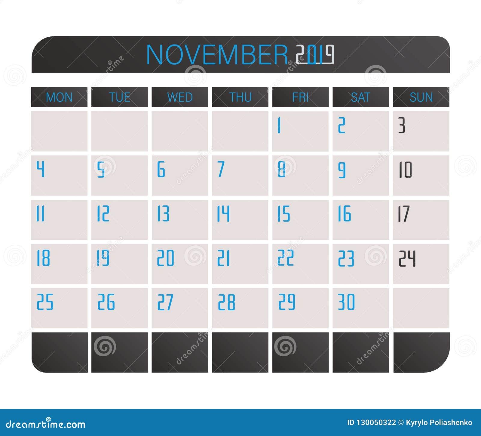 November 2017 kalender