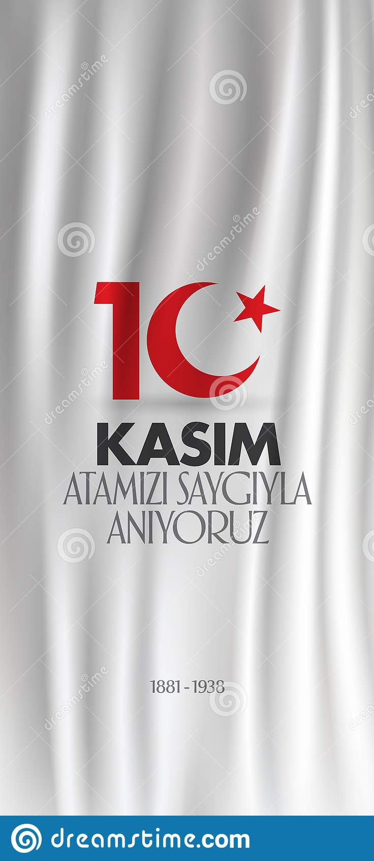 10 November, Mustafa Kemal Ataturk Death Day-verjaardag Herdenkingsdag van Ataturk Aanplakbordontwerp