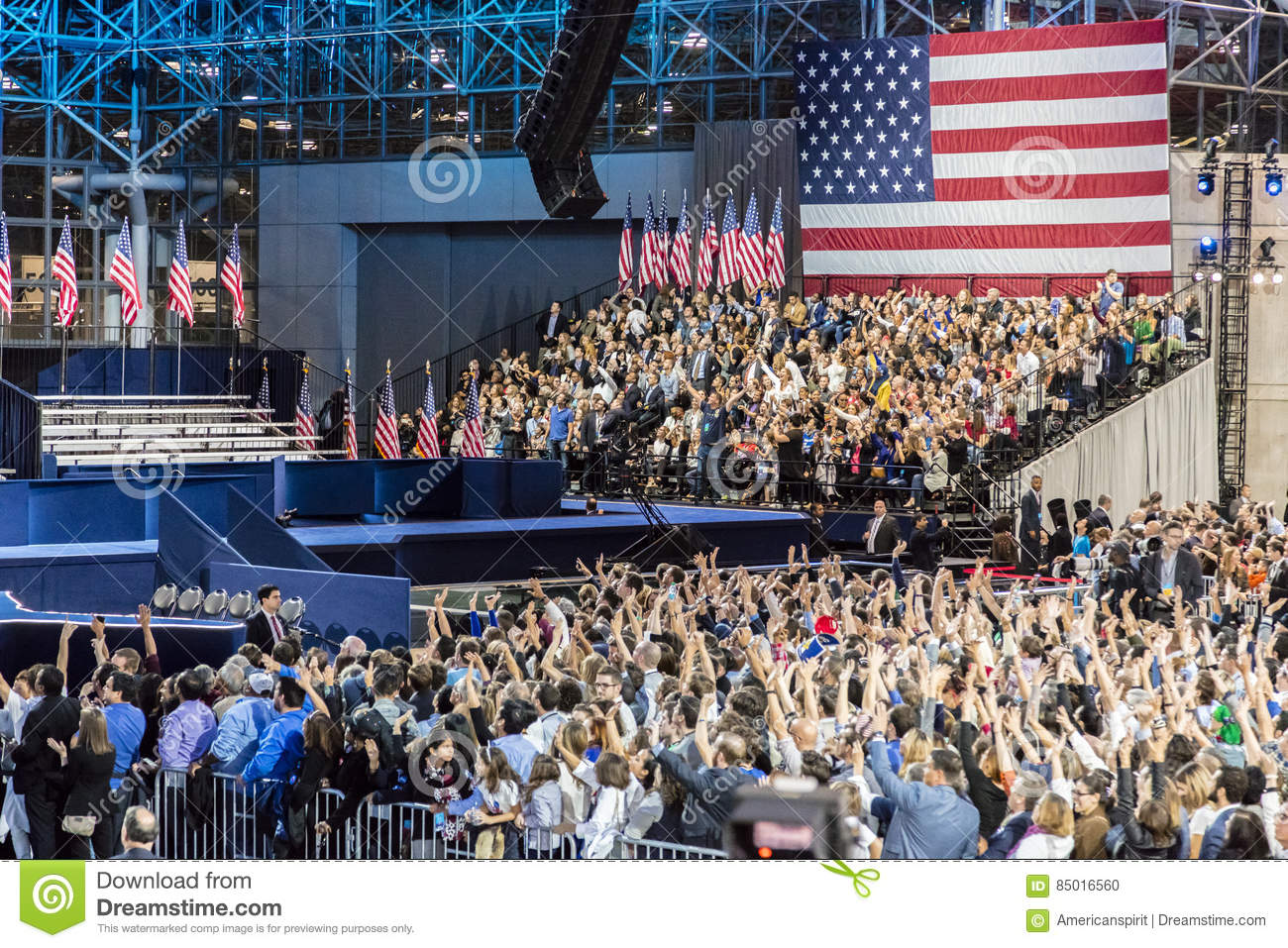 NOVEMBER 8, 2016, Supporters Of Hillary Clinton Election ...