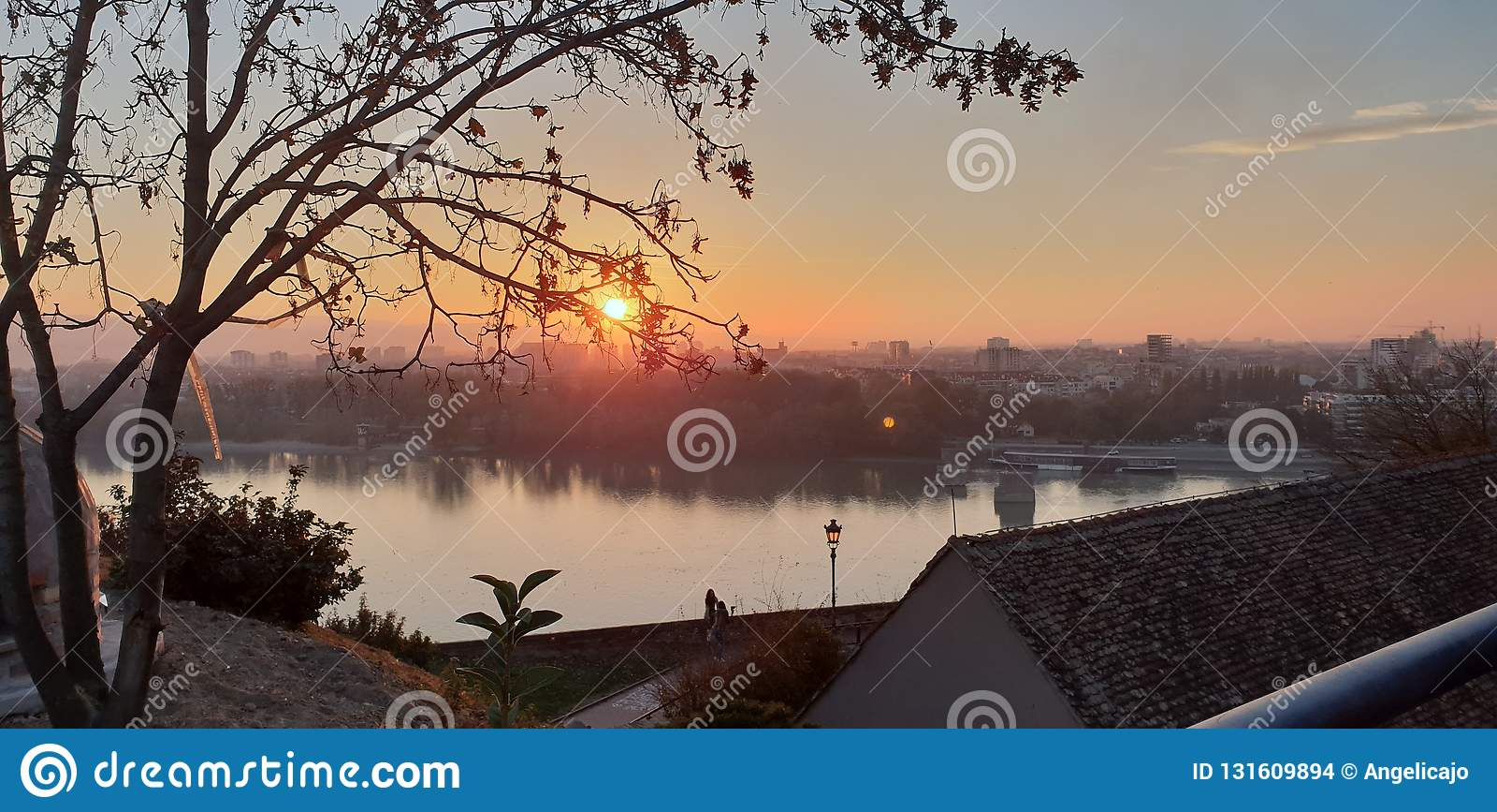 Novi Sad - la Serbie - coucher du soleil
