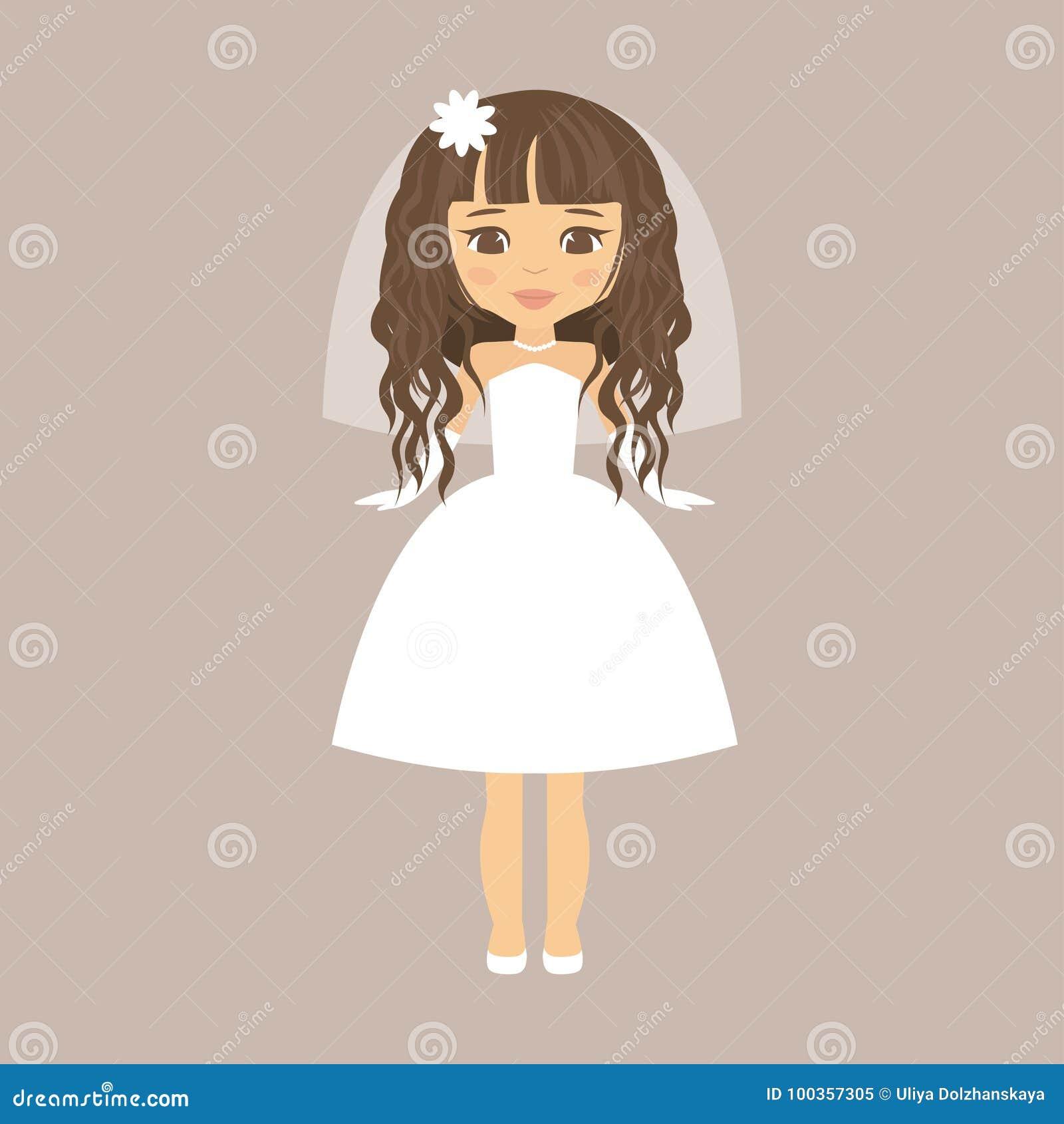 Pelo rizado corto novia