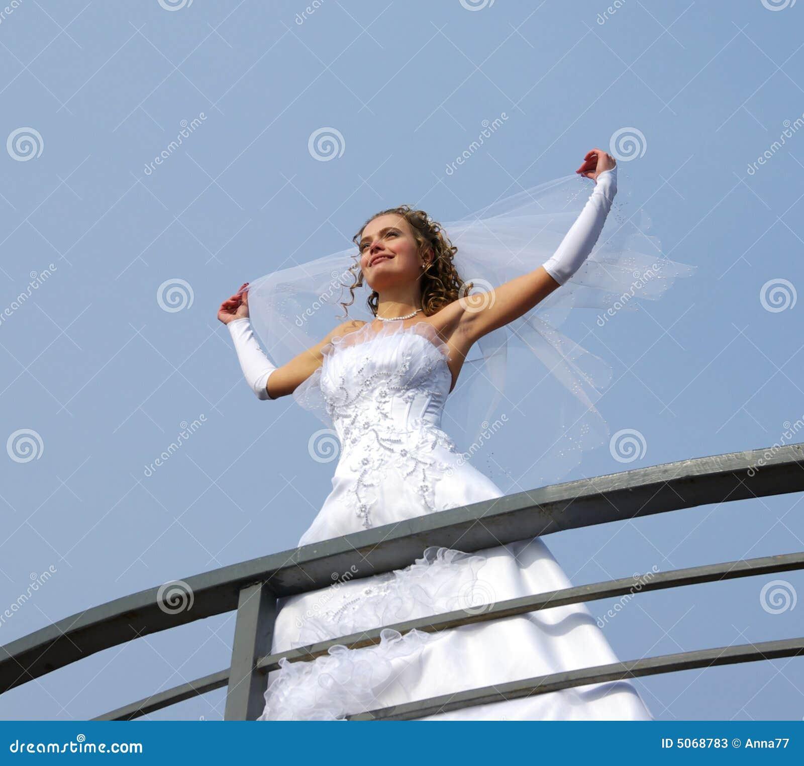 Novia en el viento