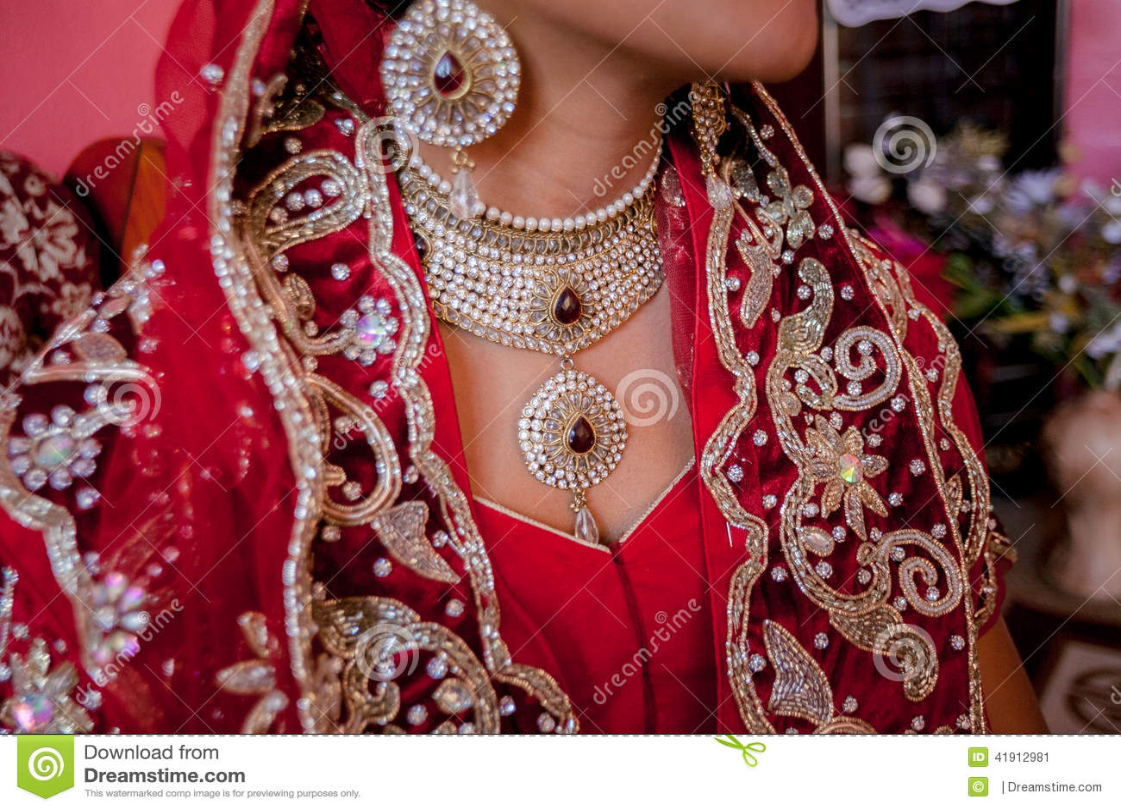 Novia hindú hermosa