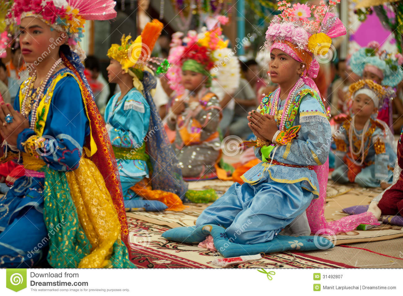 Novice in Poy-Sang-Long Festival in Northern of Thailand.