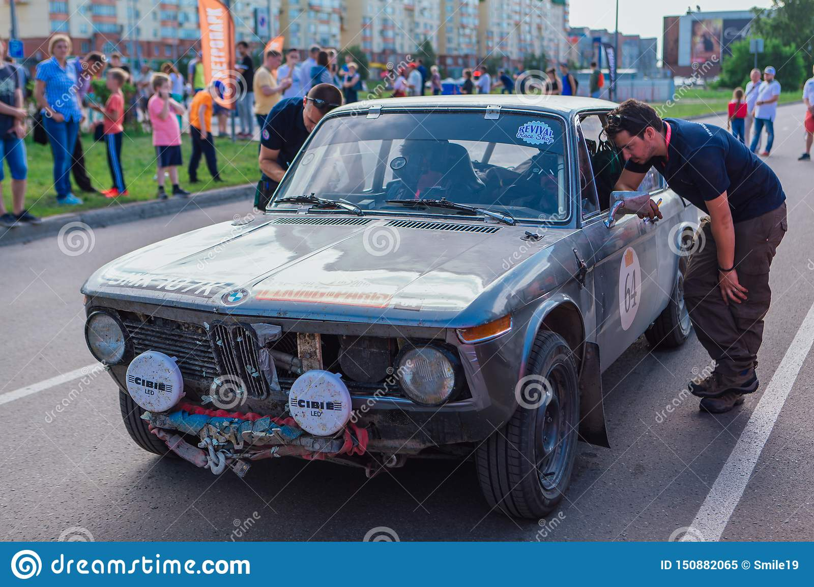 Novokuznetsk Russia June 14 2019 The 7th Peking To Paris Motor Challenge 2019 Bmw 2002 Ti 1971 Leaving The City And Going To Editorial Image Image Of Machine Auto 150882065
