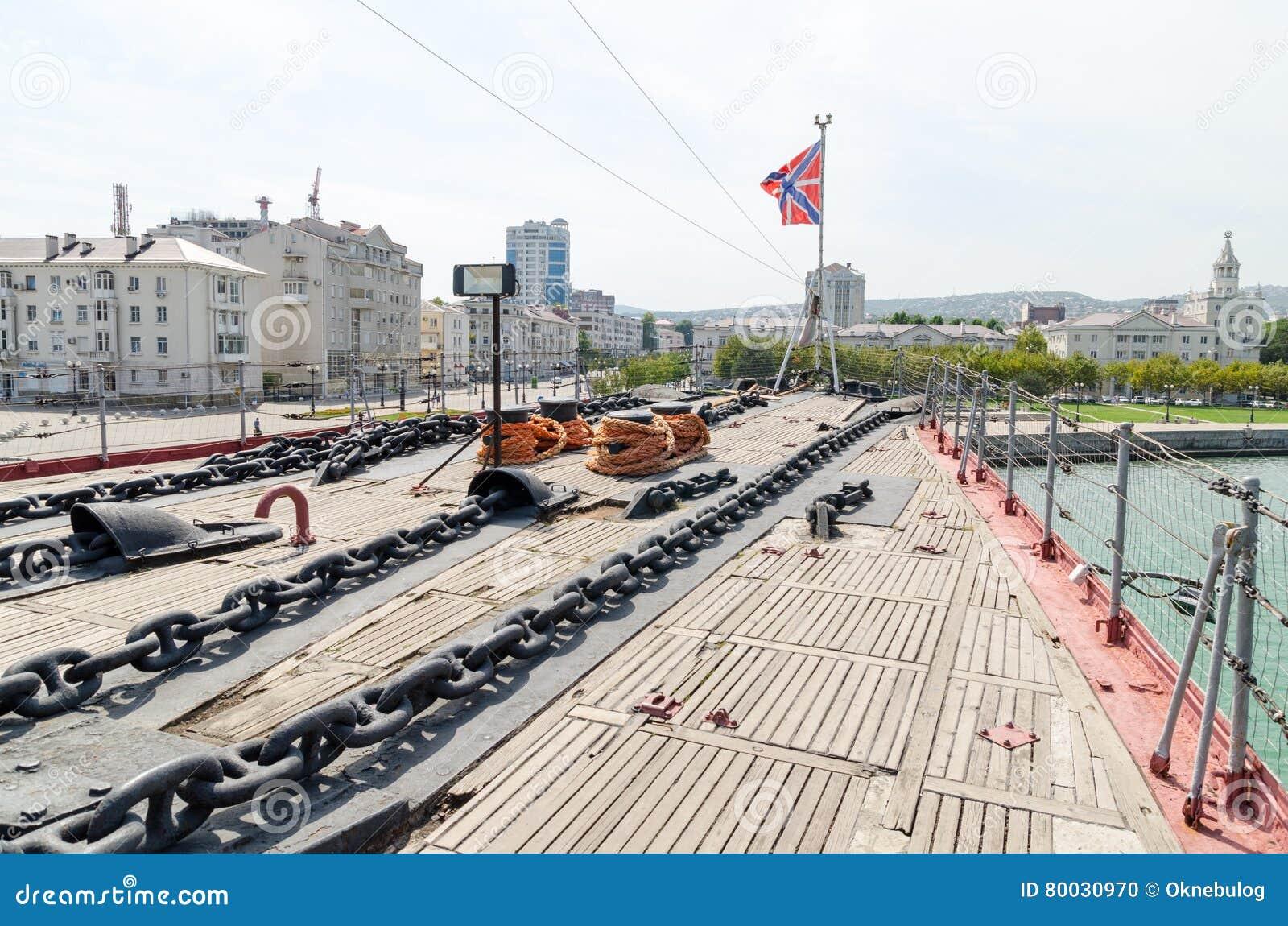 Novorossiysk Het dek van de kruiser Mikhail Kutuzov