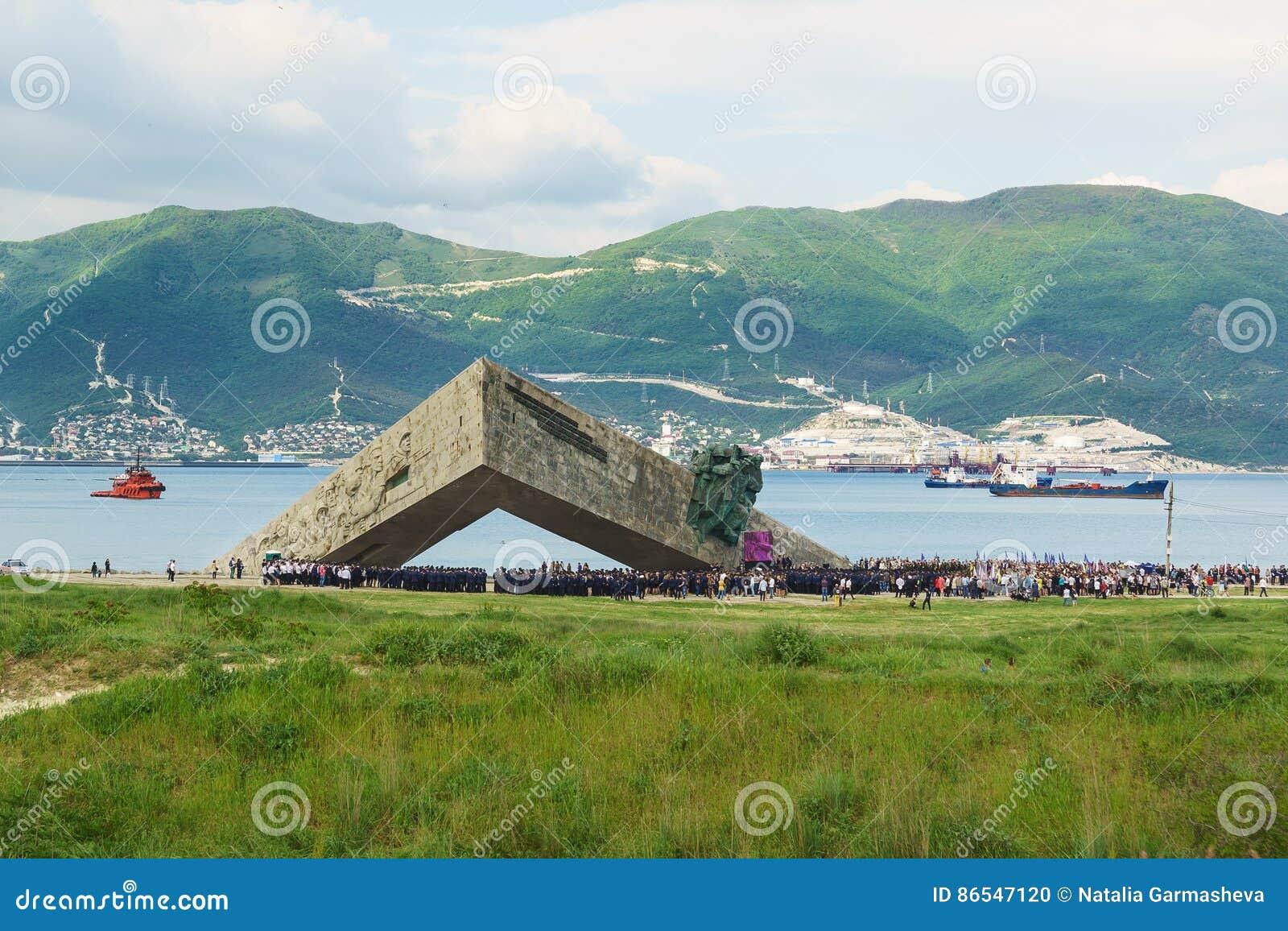 NOVOROSSIYSK, RUSLAND - MEI 08 2016: herdenkings
