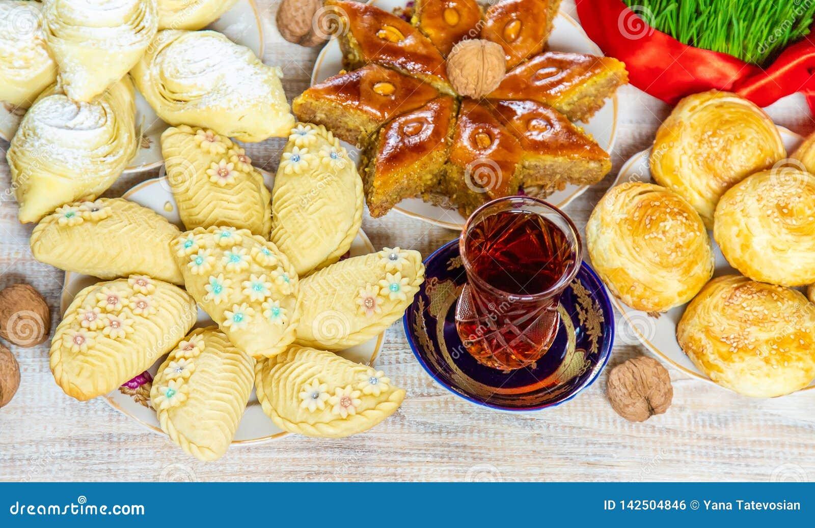 Novruz. Azerbaijani traditions. New Year. Selective focus