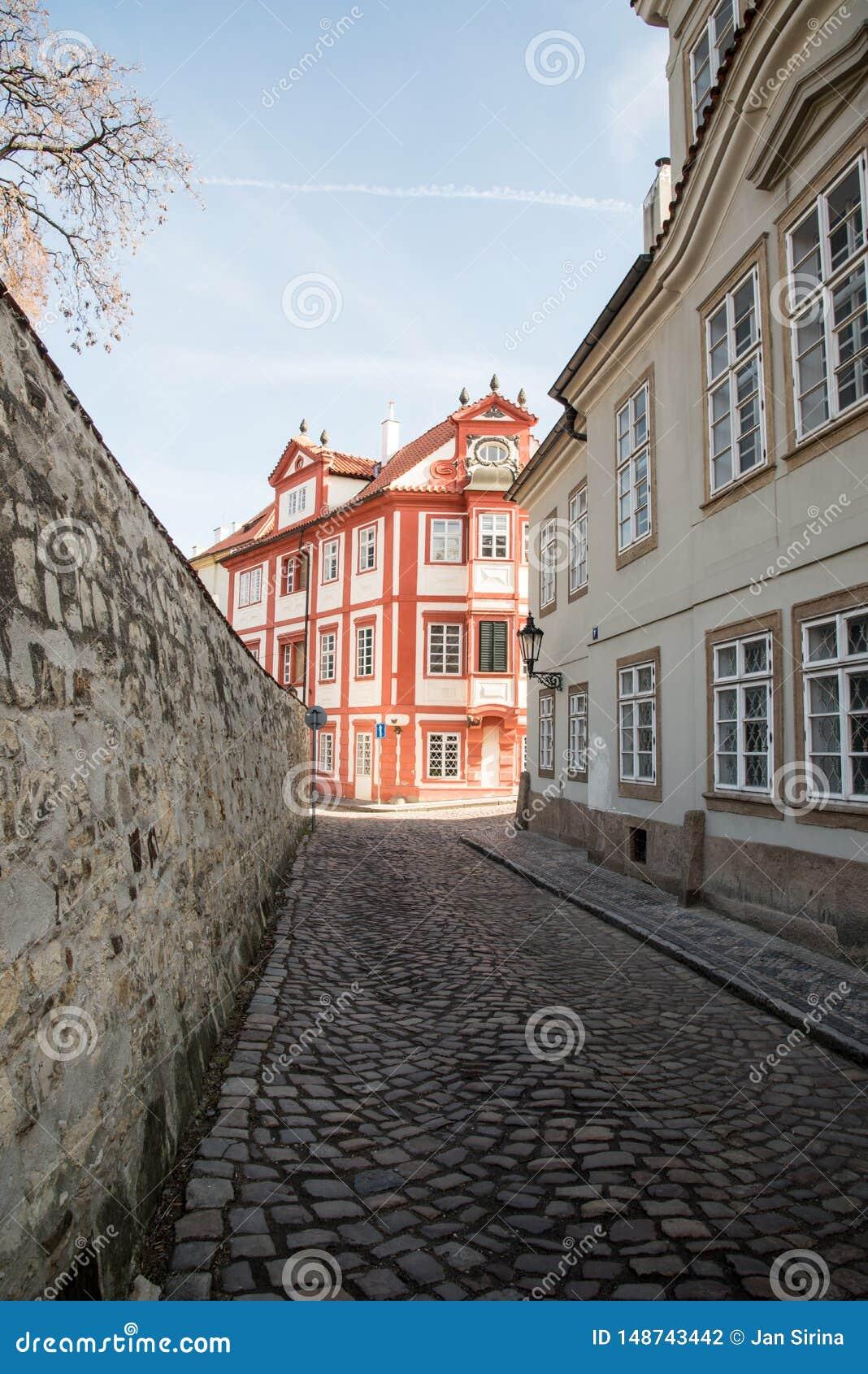 Novy Svet ulica na Hradcany w Praha mie?cie w republika czech