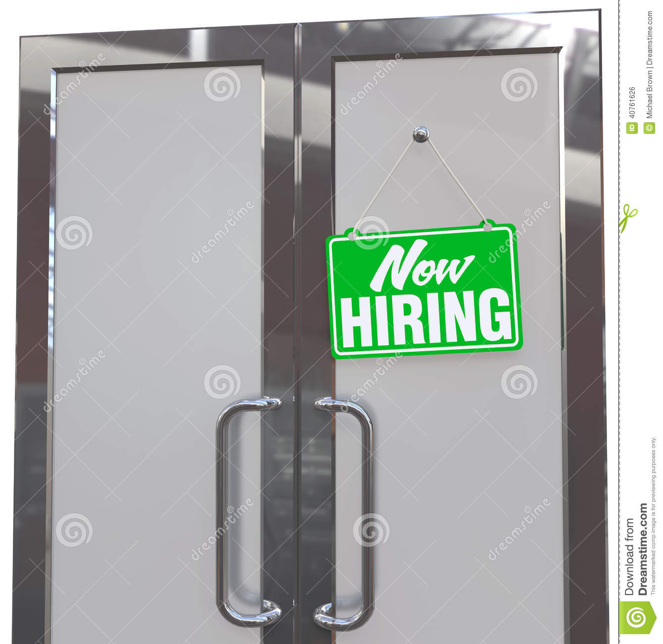 Retail Business Entry Doors : Now hiring retail store window style sign stock