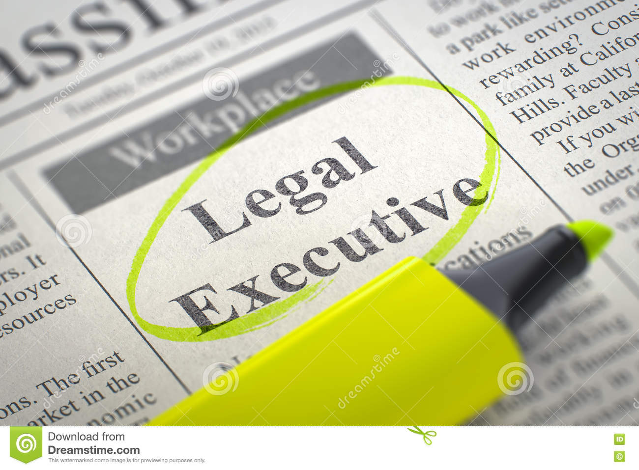 Now Hiring Legal Cashier 3d Royalty Free Stock Image