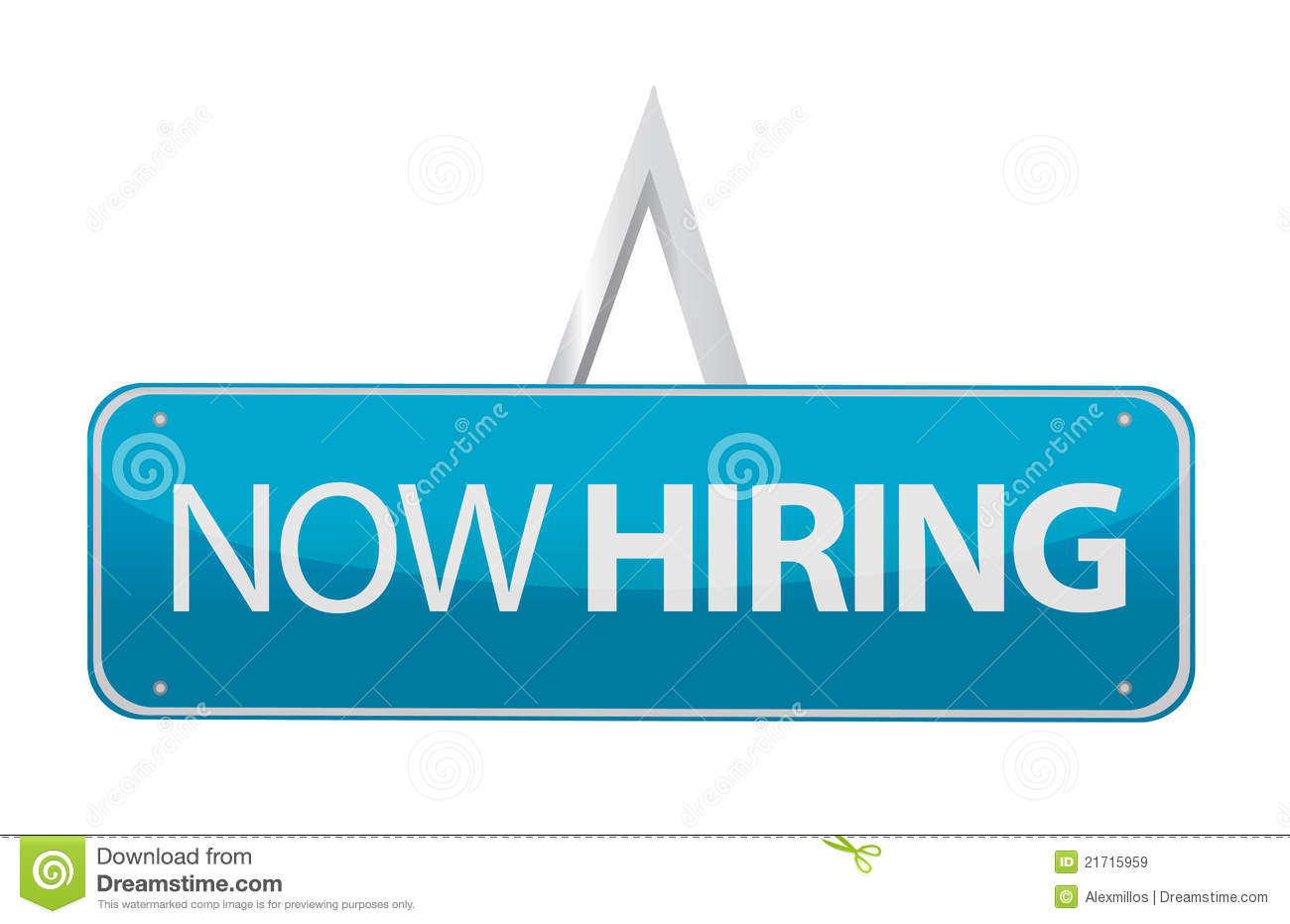 Now Hiring Sign Illustration Royalty Free Stock Images - Image ...