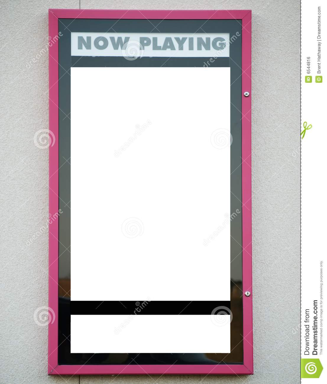 Blank Now Playing Sign For Movie Theater