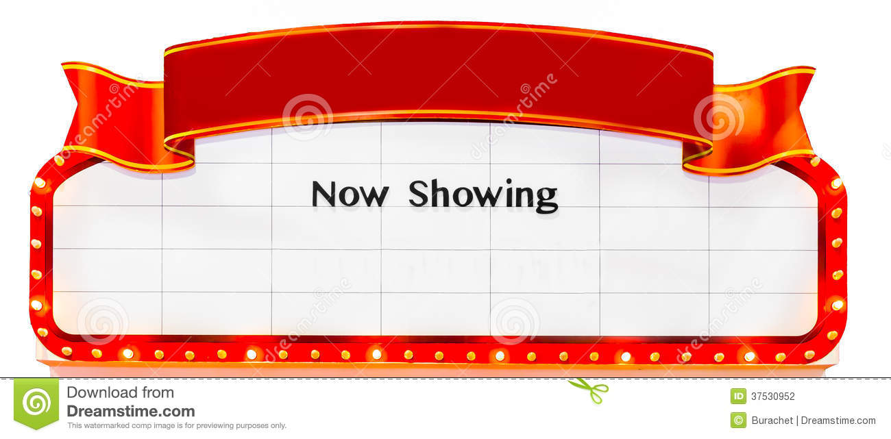 Now Showing Sign Stock Photography