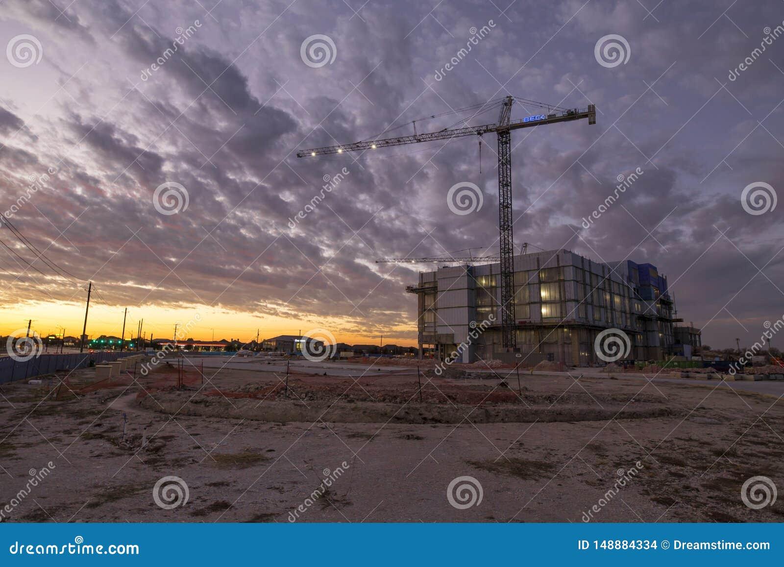 Nowa budowa zmierzch