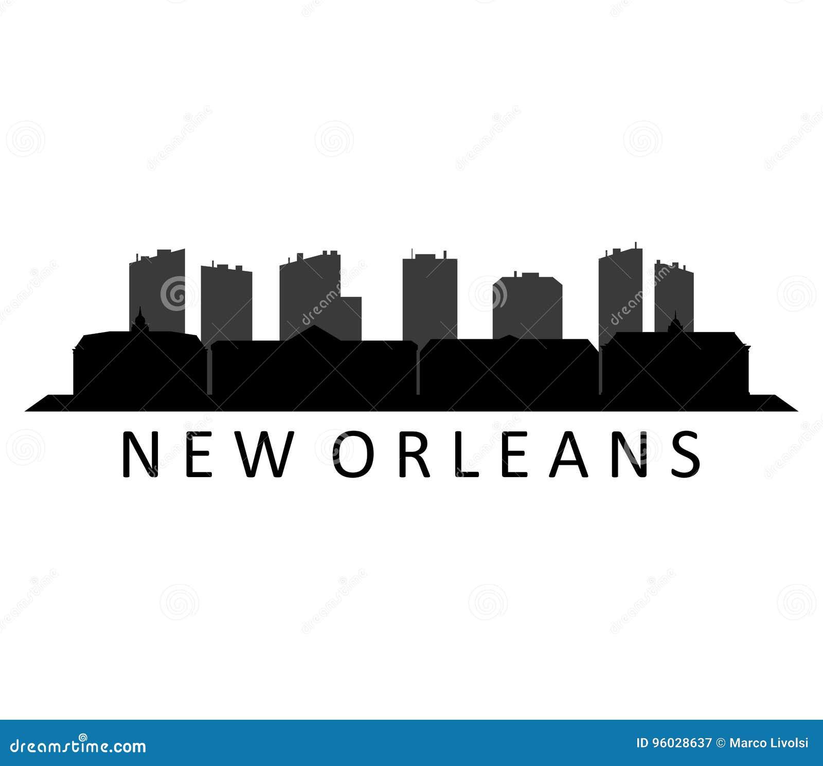 Nowa Orleans linia horyzontu ilustrująca