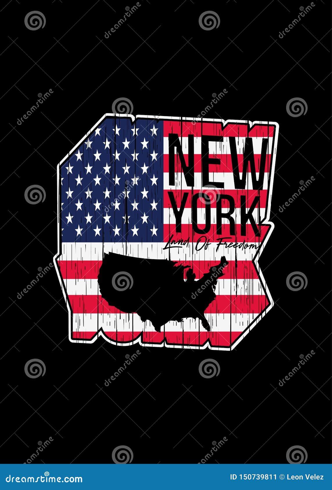Nowa York amerykańska mapa martwił geometryczną kolorową grafikę
