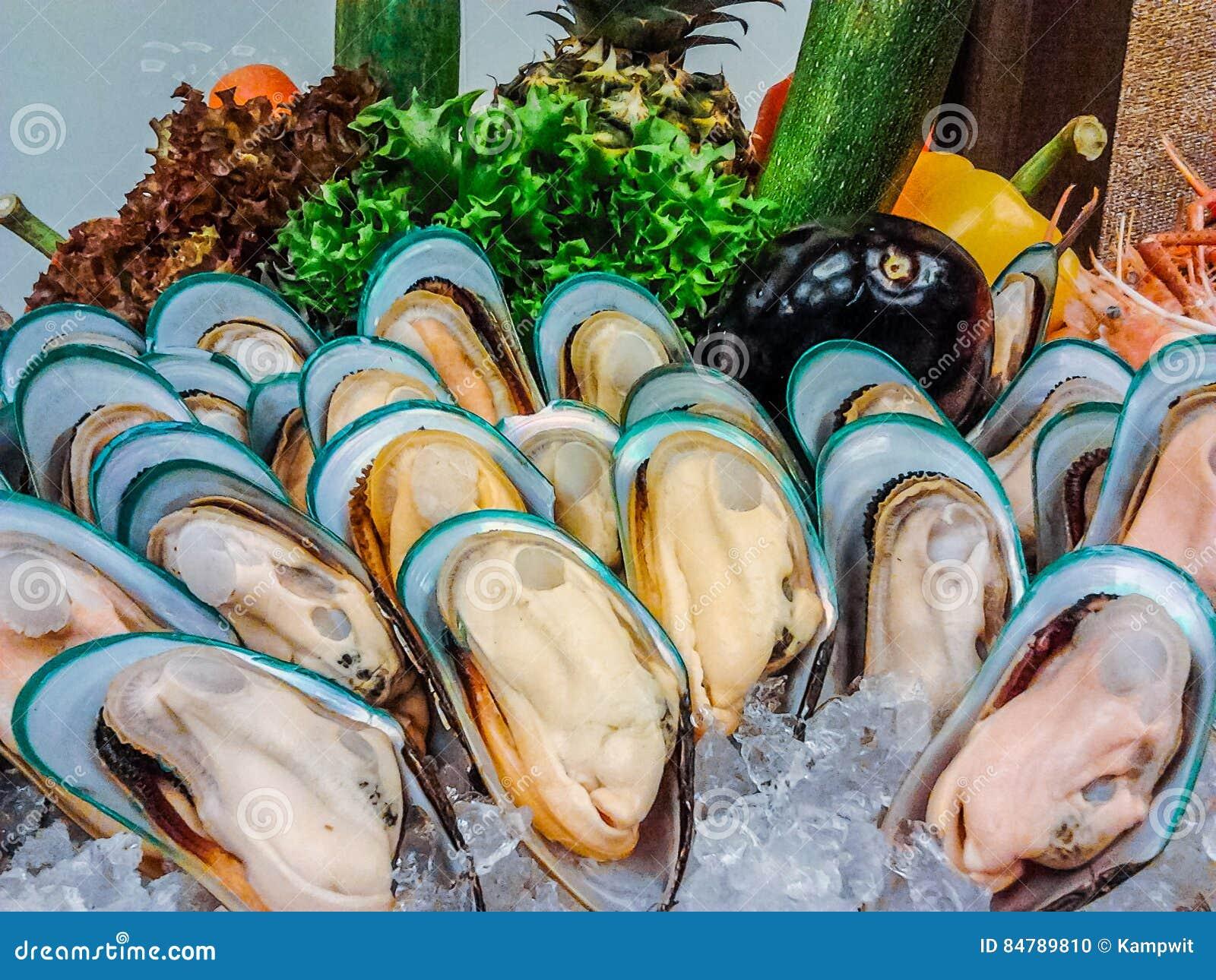 Nowa Zelandia mussels bufet w owoce morza restauraci