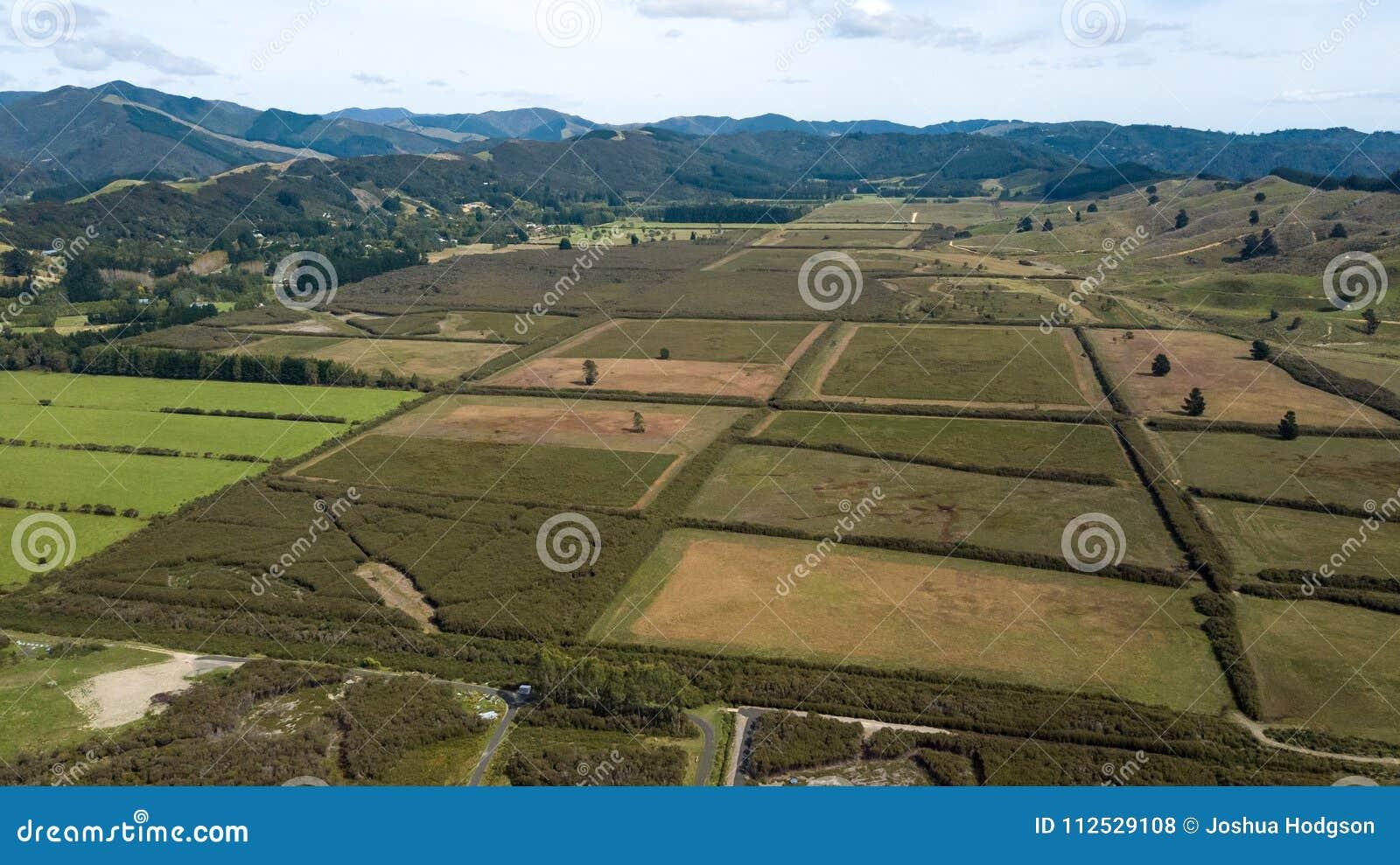 Nowa Zelandia ziemie uprawne W Hutt doliny antenie