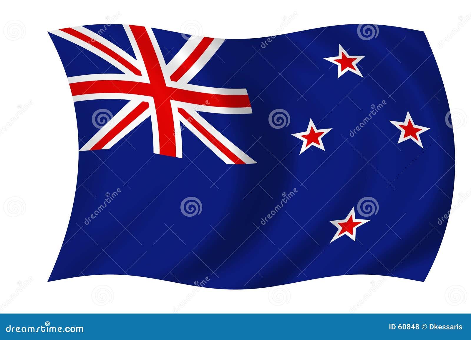 Nowe Zelandii bandery