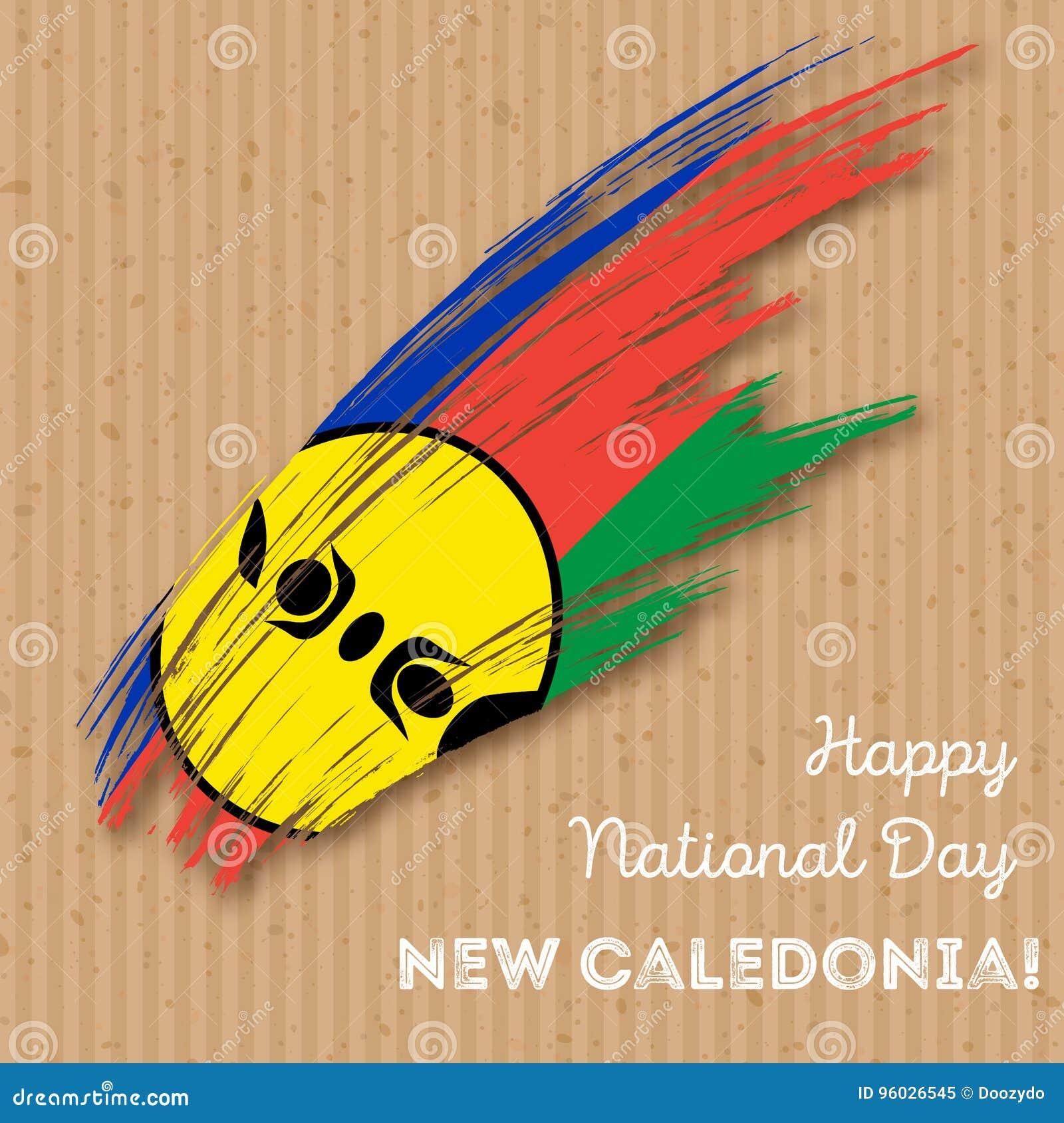 Nowego Caledonia dnia niepodległości Patriotyczny projekt