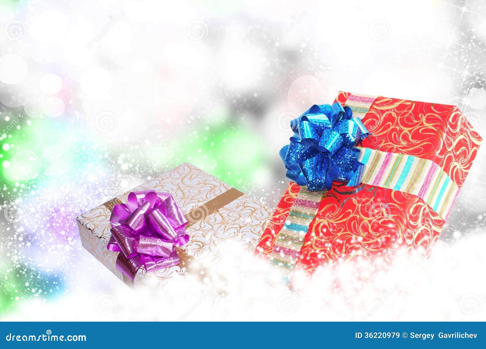 Nowego Roku Holiday.Christmas.Gift pudełka