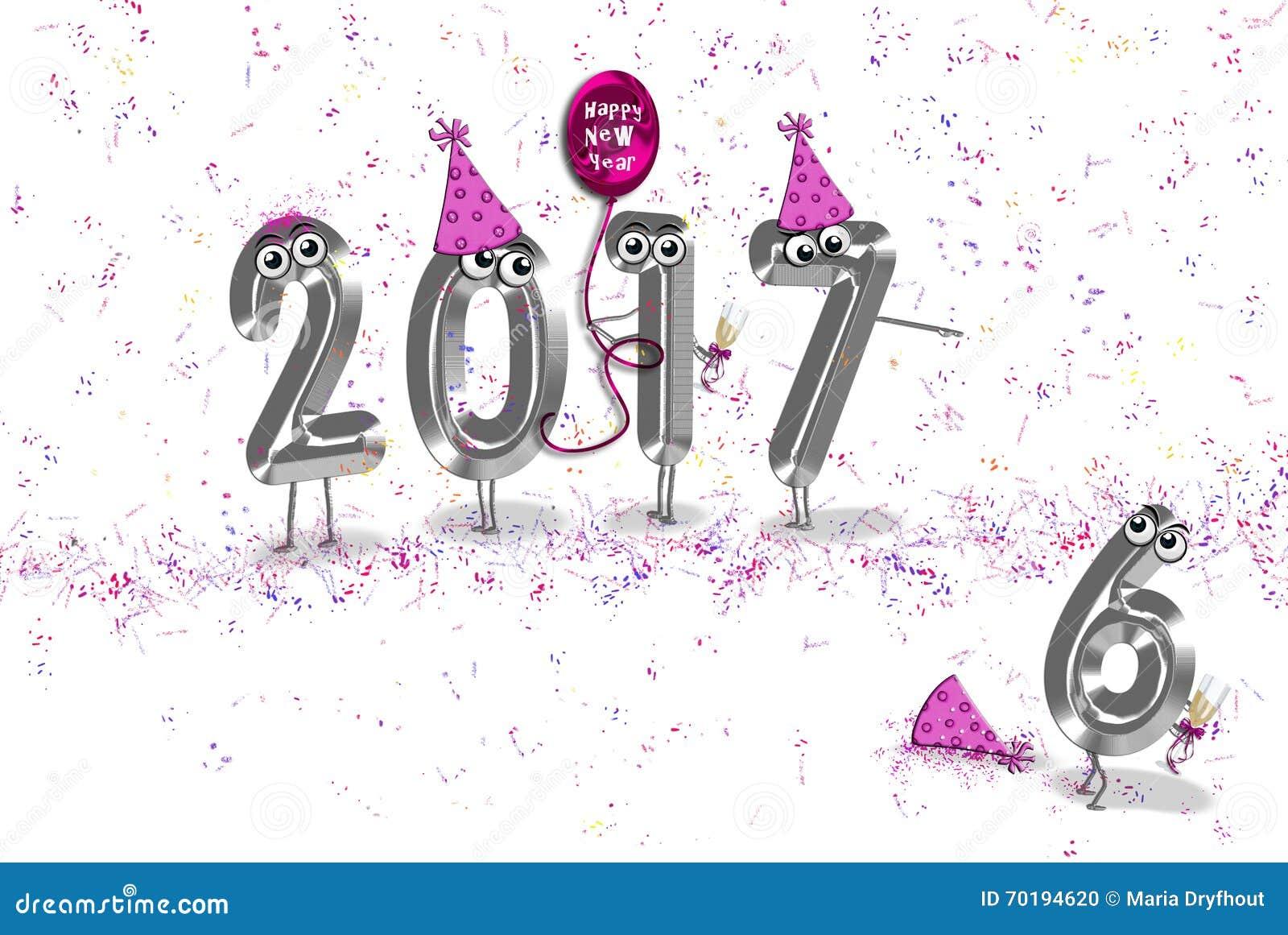 Nowego Roku 2017 partyjny humor