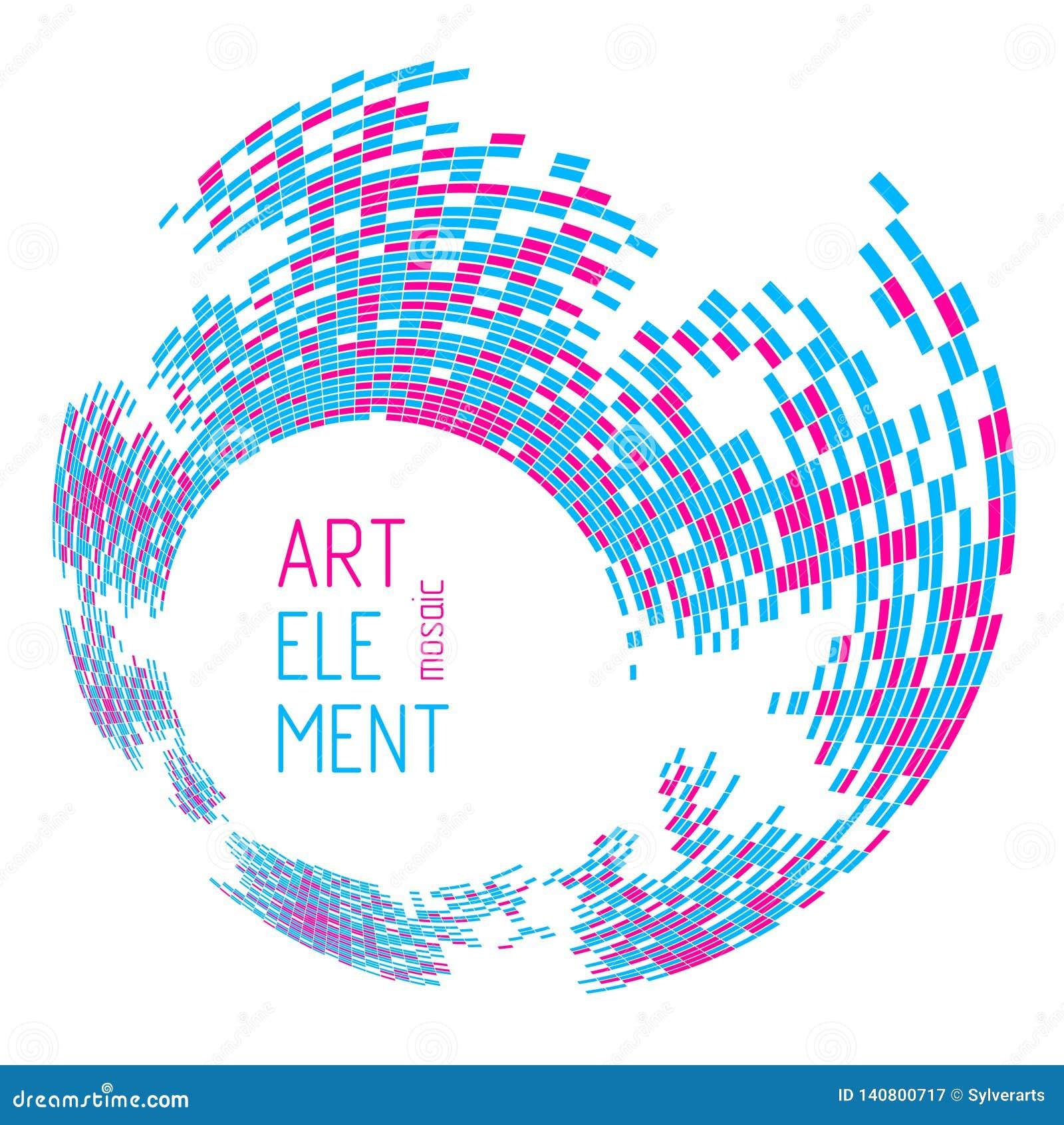 Nowożytny modny wektorowy projekt dimensional artystyczne mozaik płytki, abstrakcjonistyczny tło jako szablon dla układu z kopii
