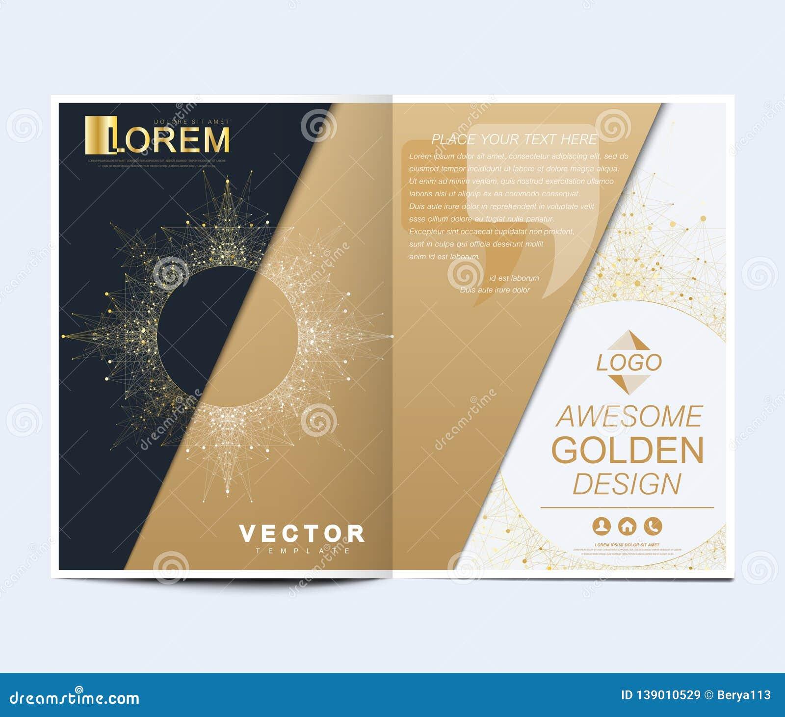 Nowożytny wektorowy szablon dla broszurki, ulotki, ulotki, pokrywy, sztandaru, katalogu, magazynu lub sprawozdania rocznego w A4