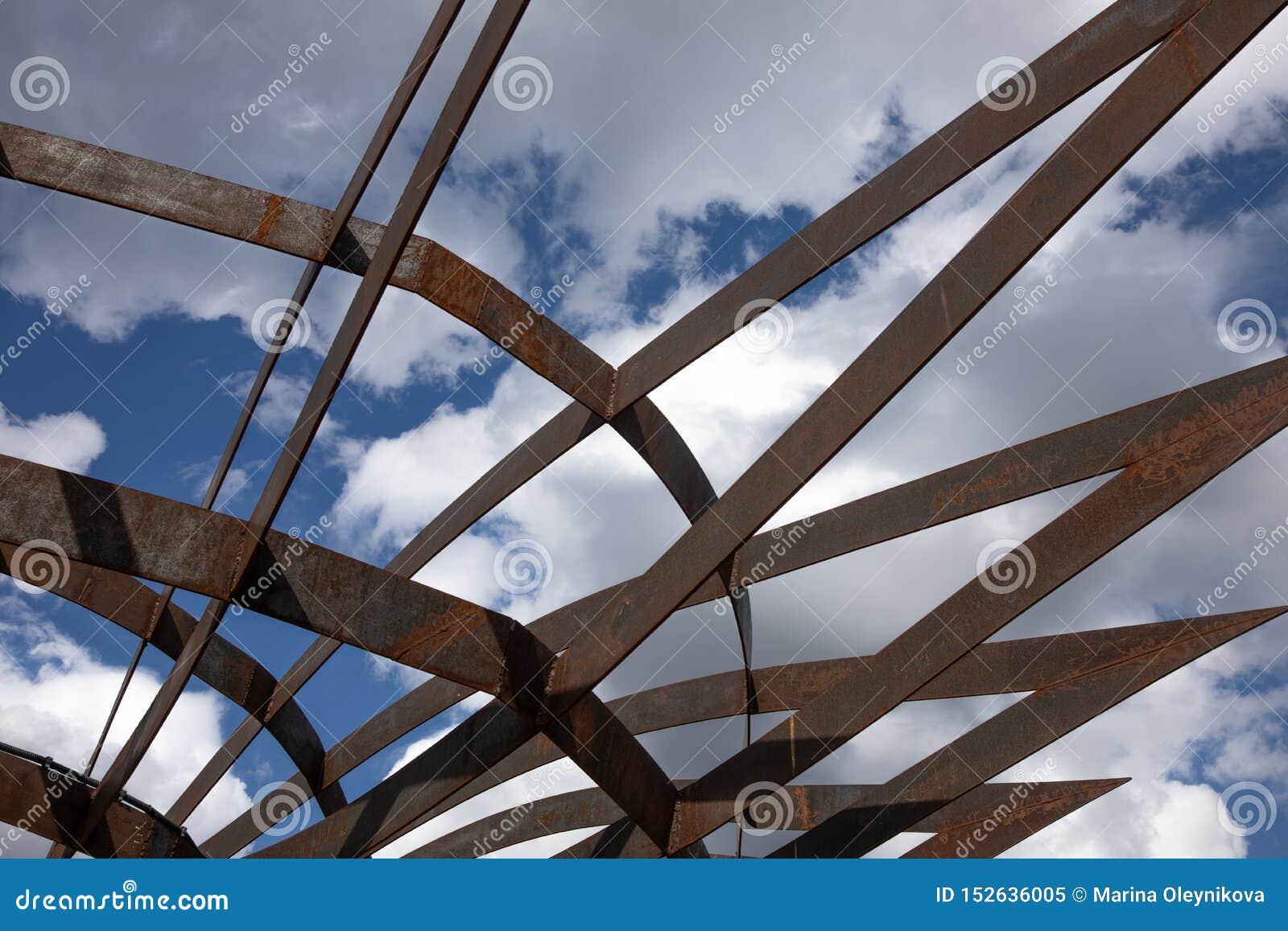Nowożytna architektury budowa w krajobrazowym parku w Moskwa
