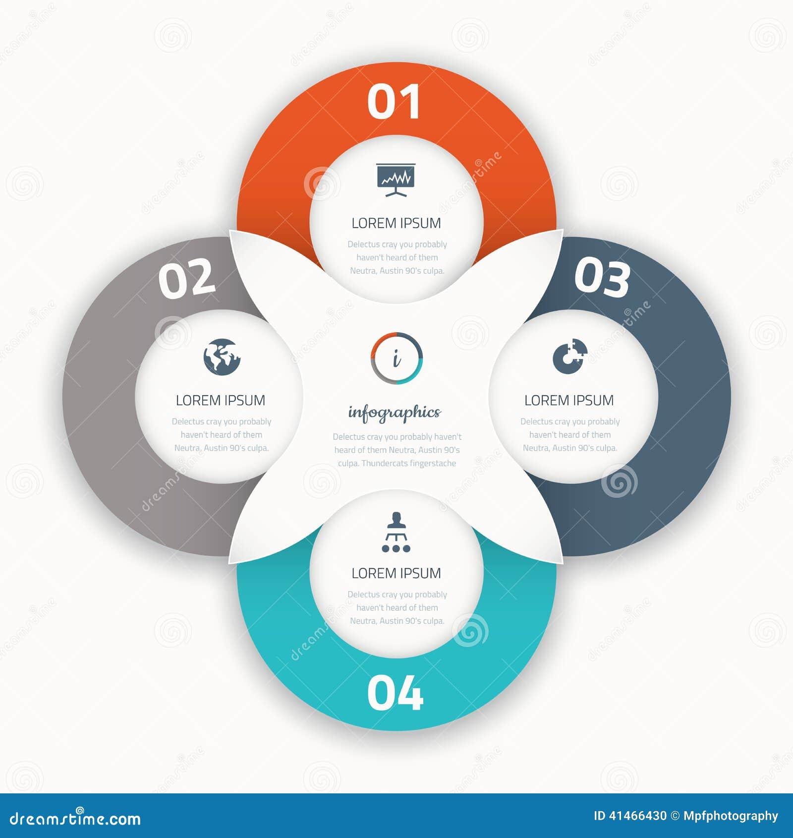 Nowożytna cztery infographic opcja biznesu szablonu ikony