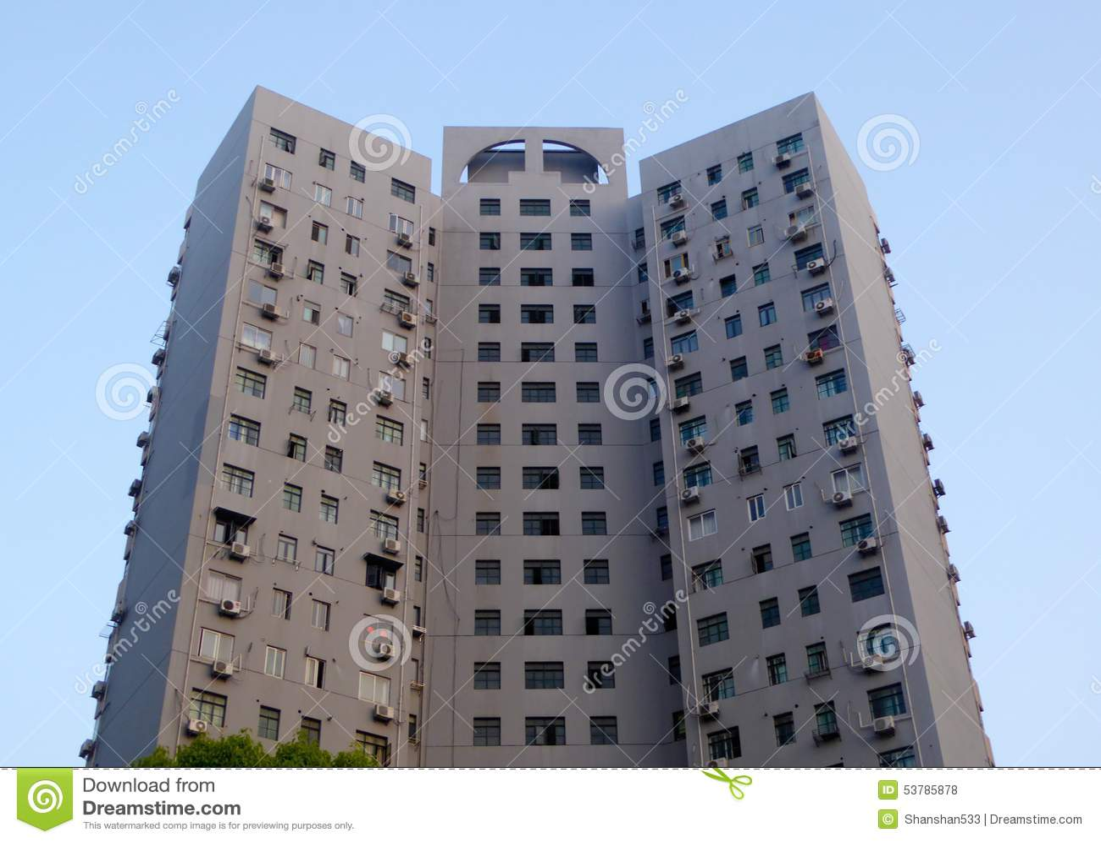 Nowożytna lokalowa budowa w Szanghaj