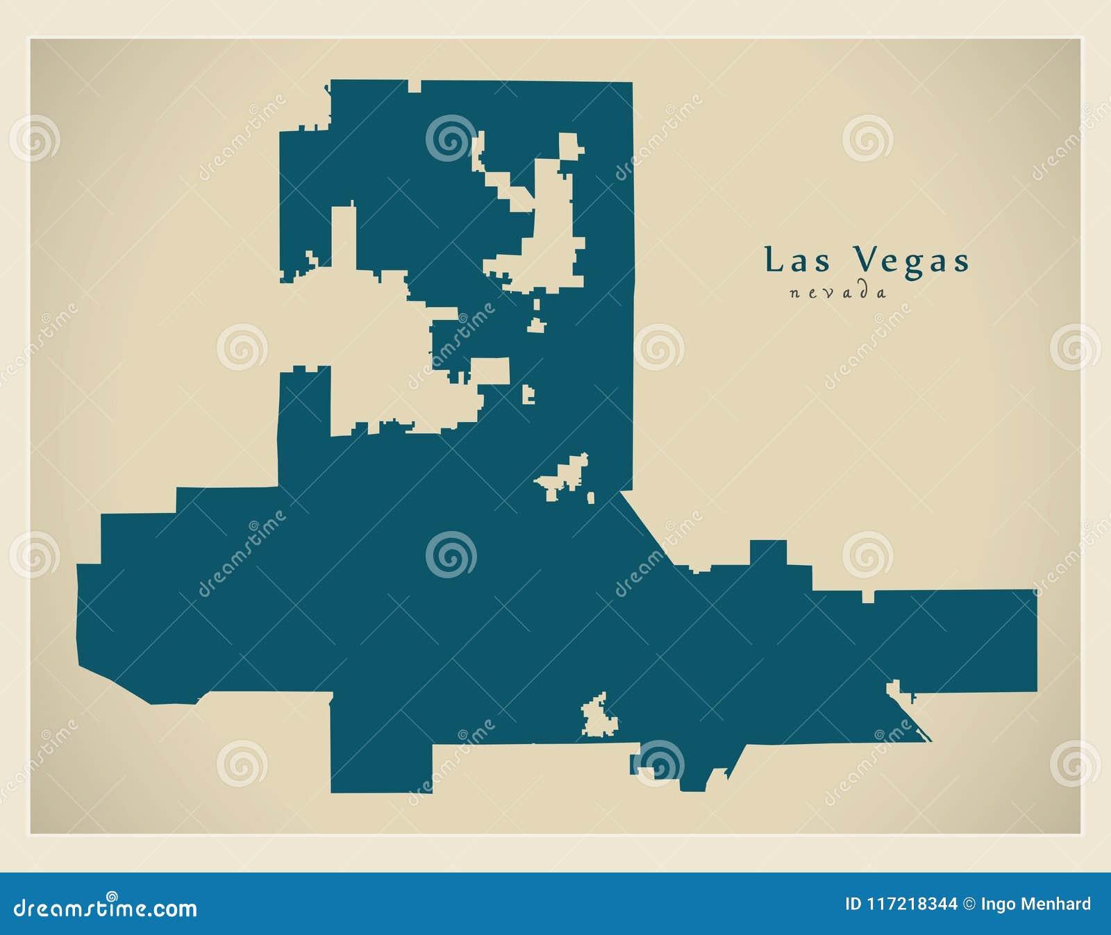 Nowozytna Miasto Mapa Las Vegas Nevada Usa Miasto Ilustracja Wektor Ilustracja Zlozonej Z Miasto Mapa 117218344