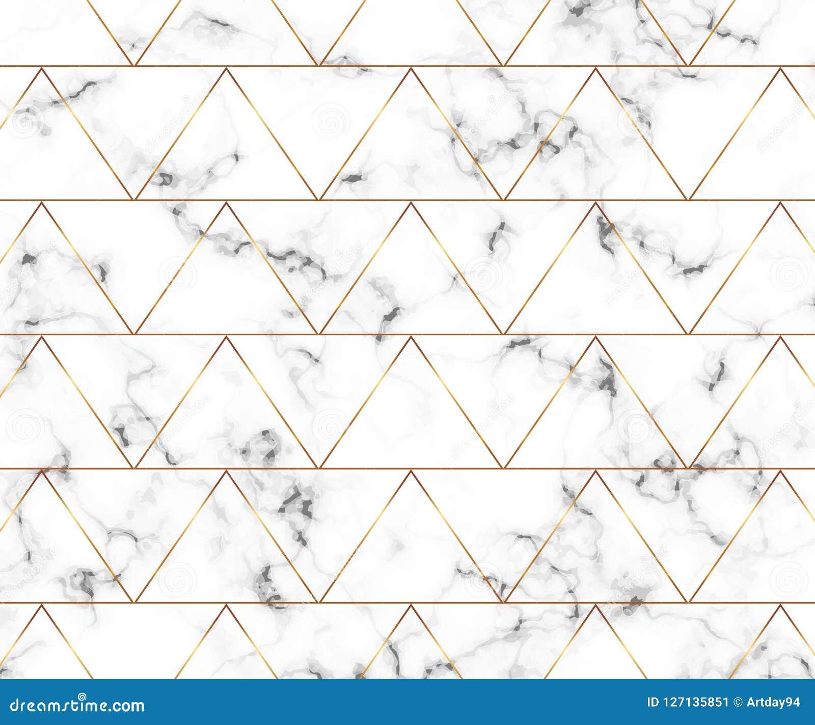 Nowożytna minimalistyczna bielu marmuru tekstura z złocistym geometrycznym linia wzorem Tło dla projekta sztandaru, karta, ulotka