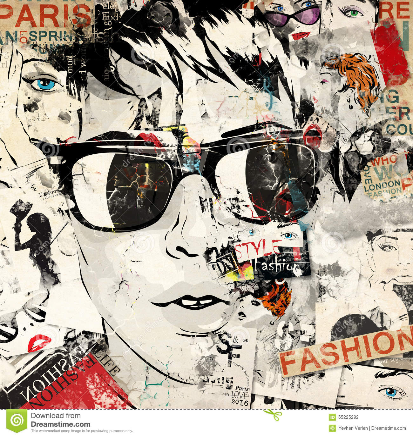 Nowożytna nastoletnia dziewczyna na grunge tle