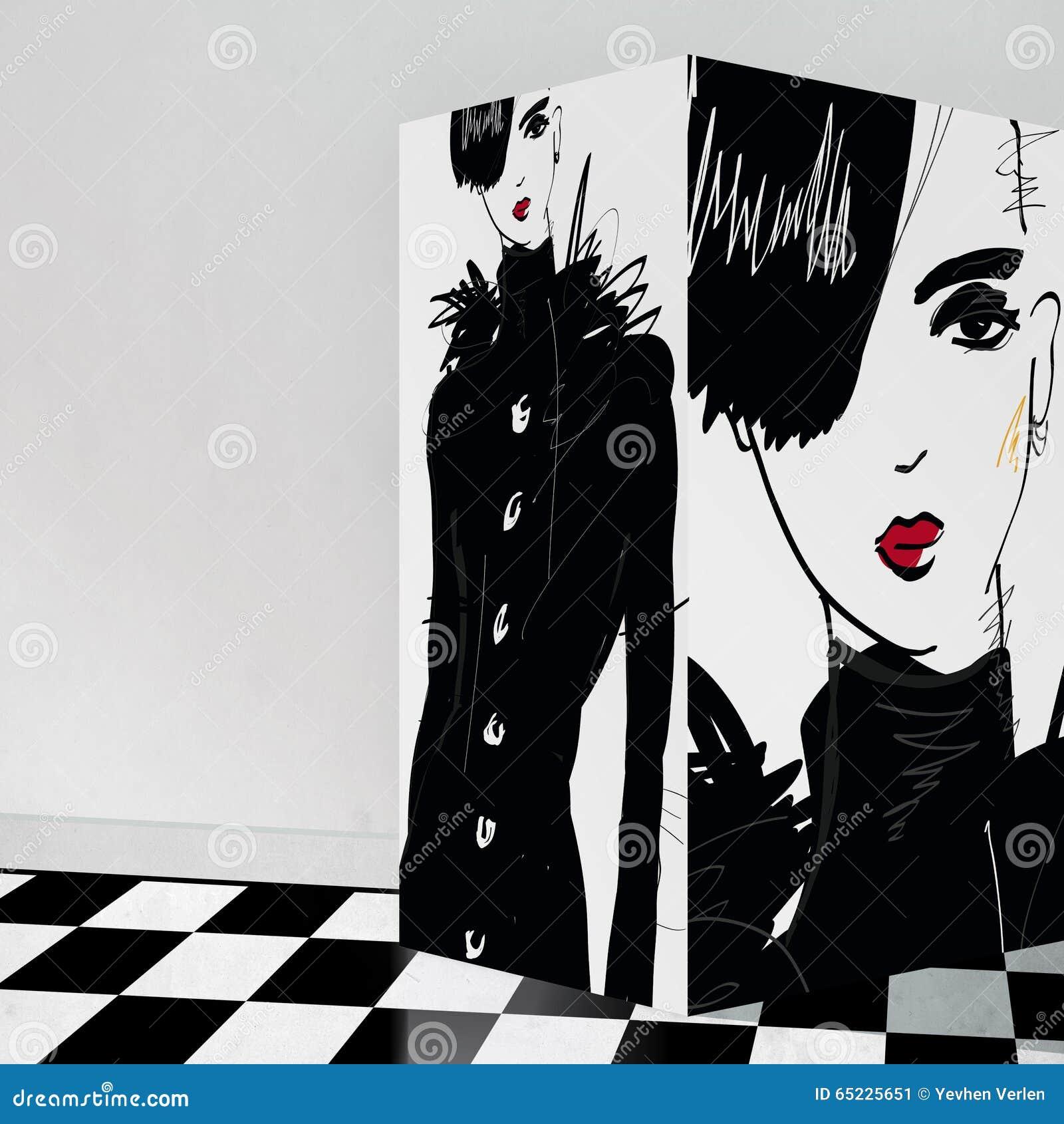 Nowożytna nastoletnia dziewczyna z galerii wnętrzem
