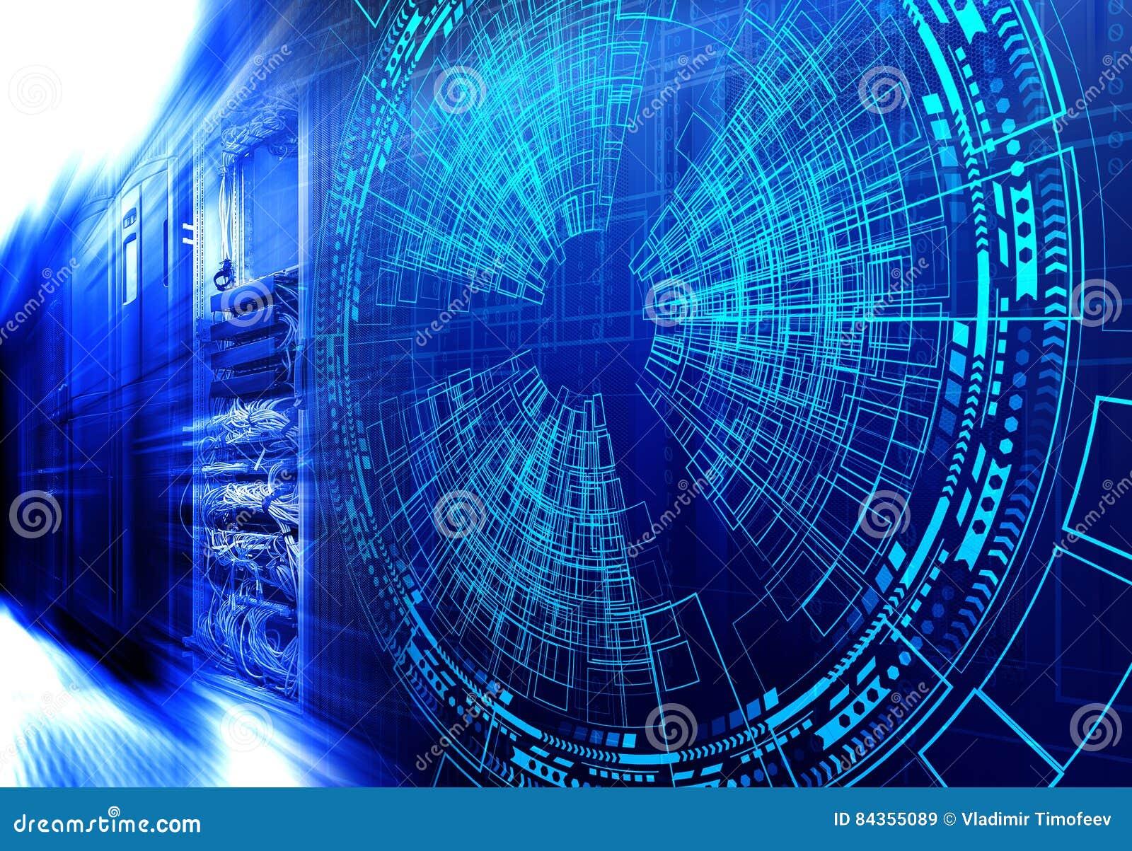 Nowożytna sieć interneta i sieci telekomunikacyjna technologia, dużego przechowywania danych obłoczny oblicza komputerowy poważny
