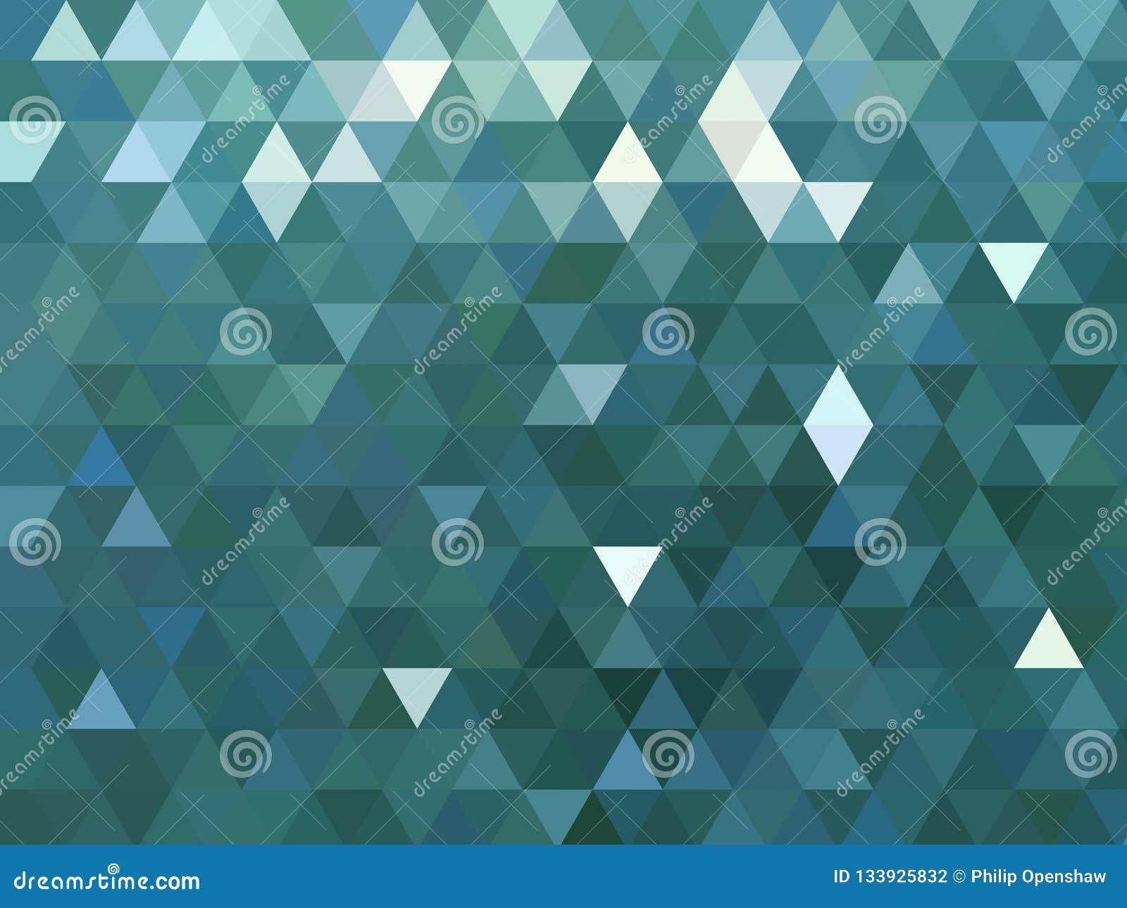 Nowożytnego kruszcowego błękitnego trójgraniastego wieloboka niski poli- tło