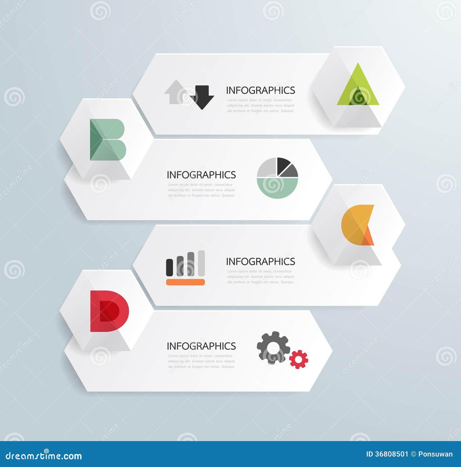 Nowożytnego projekta Minimalny stylowy infographic szablon