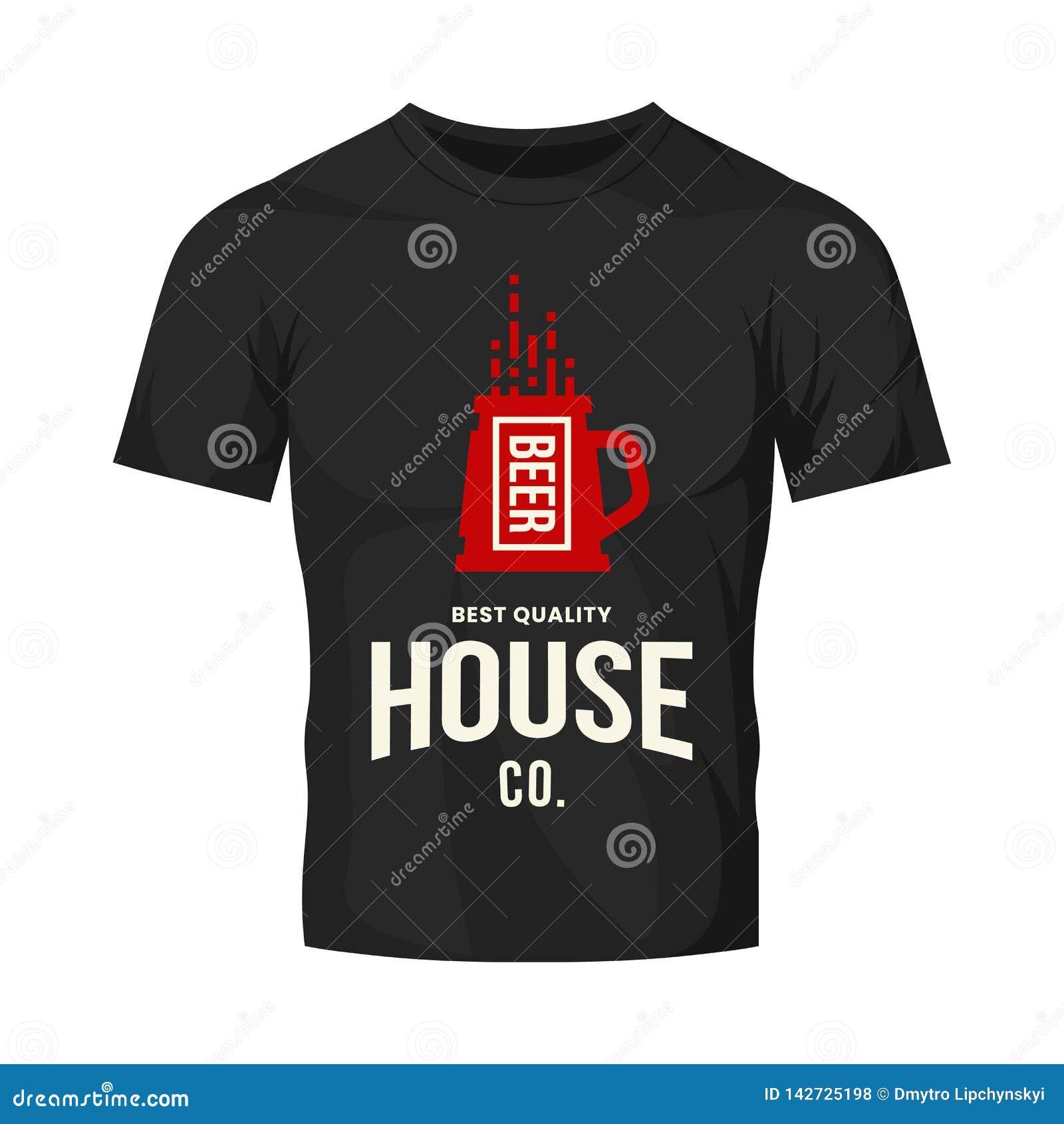 Nowożytnego rzemiosło piwnego napoju logo wektorowy znak dla baru, pubu, sklepu, brewhouse lub browaru odizolowywających na czarn