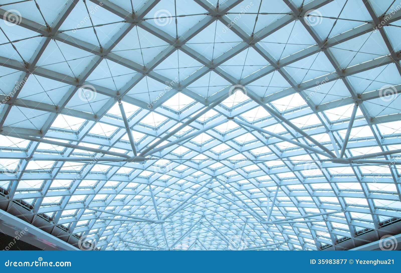 Nowożytnego stacja dachu budowy stalowy organiz