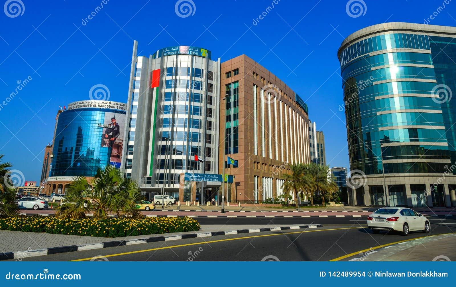 Nowożytni budynki w Dubaj, UAE