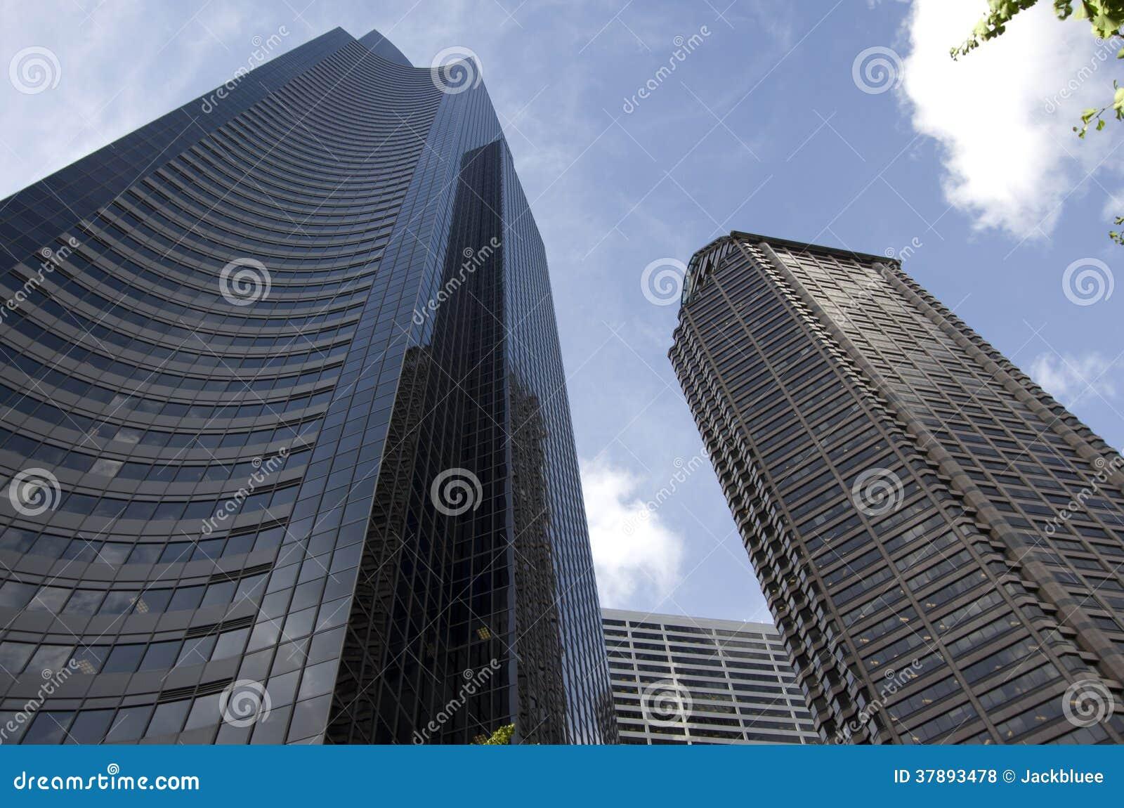 Nowożytni budynki w Seattle